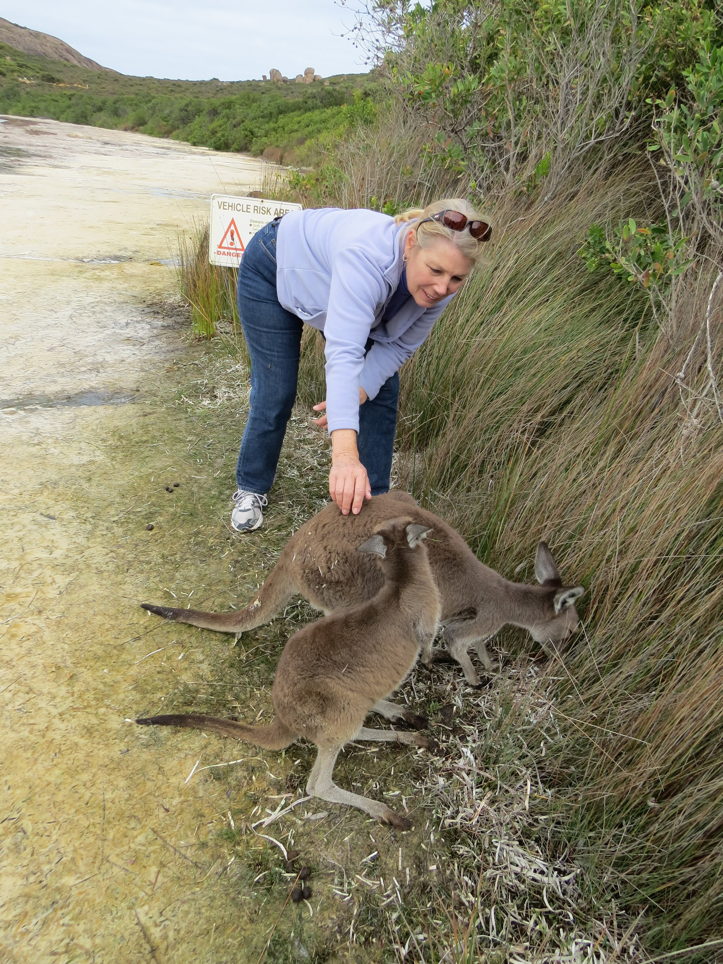 A chance to meet the locals at LeGrand National Park, Western Australia.
