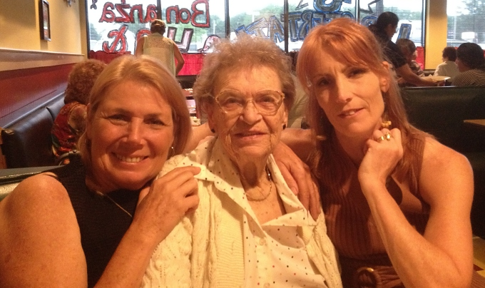 Me, Bea (my mom) and sister, Lin ... just months before she passed away.
