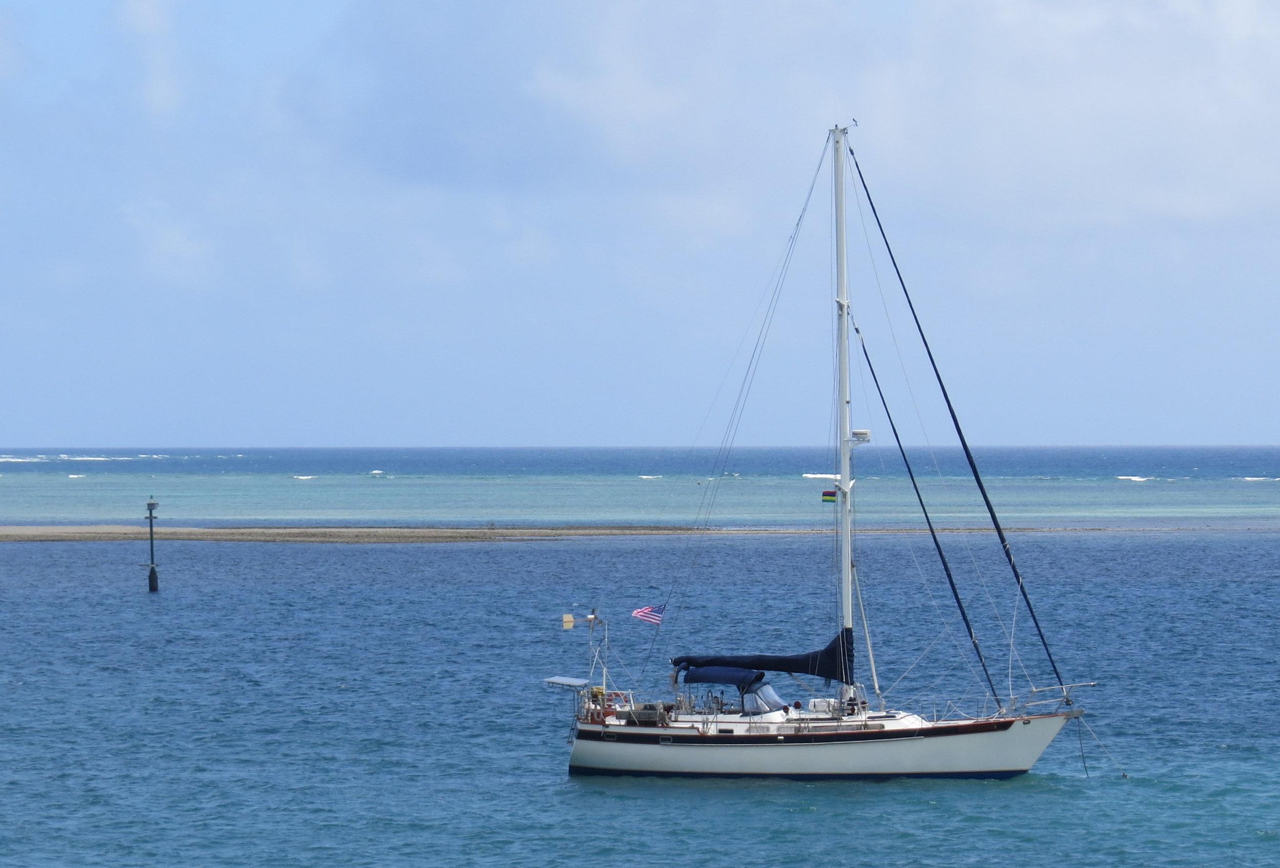 At anchor Port Mathurin