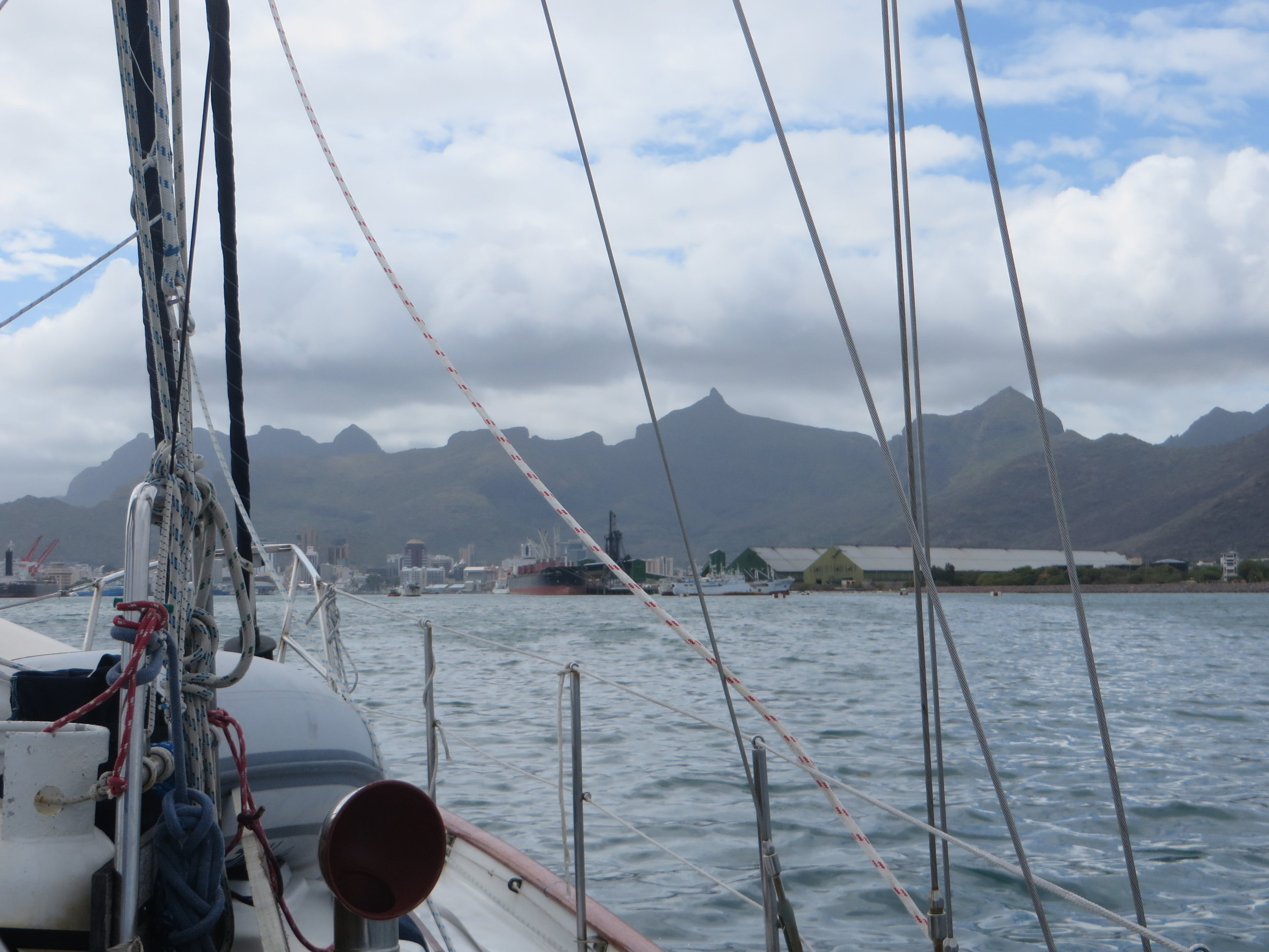 Approaching Port Louis, Mauritius ... WOW!
