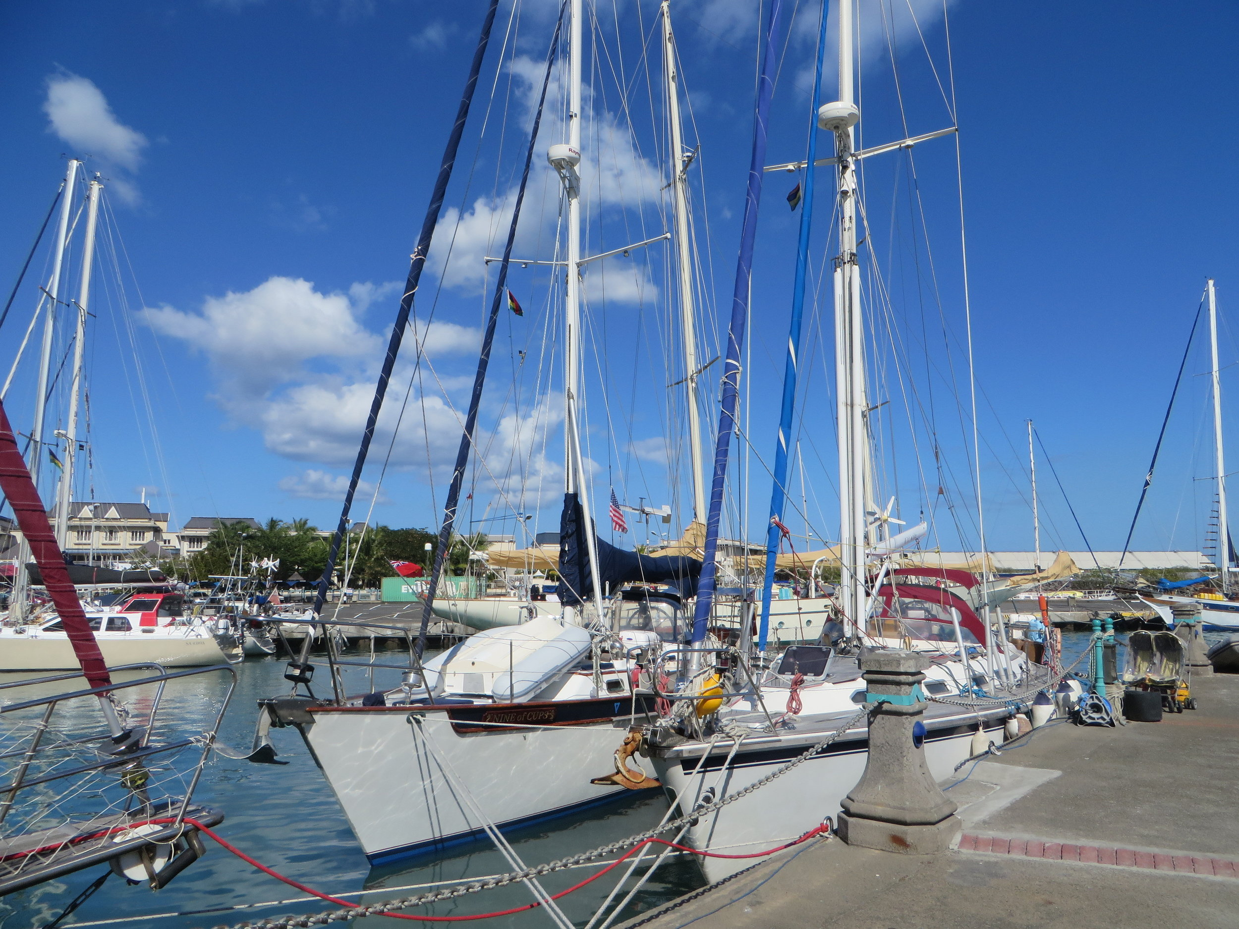 Rafted up in Port Louis Harbour