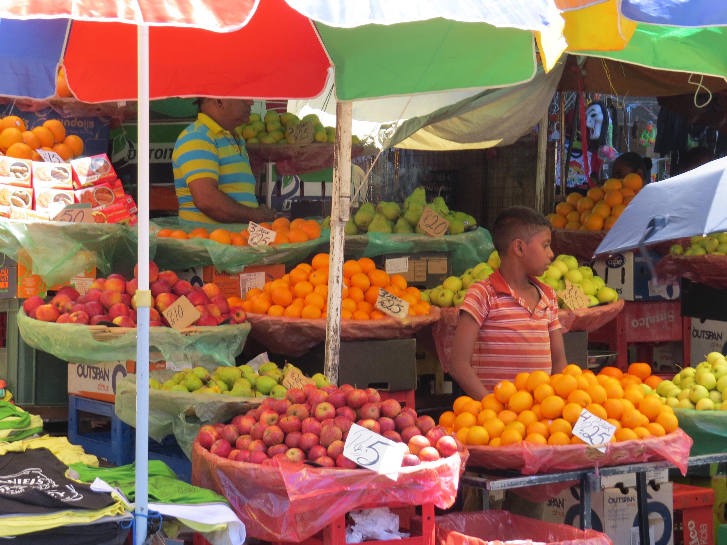 Colorful fresh market