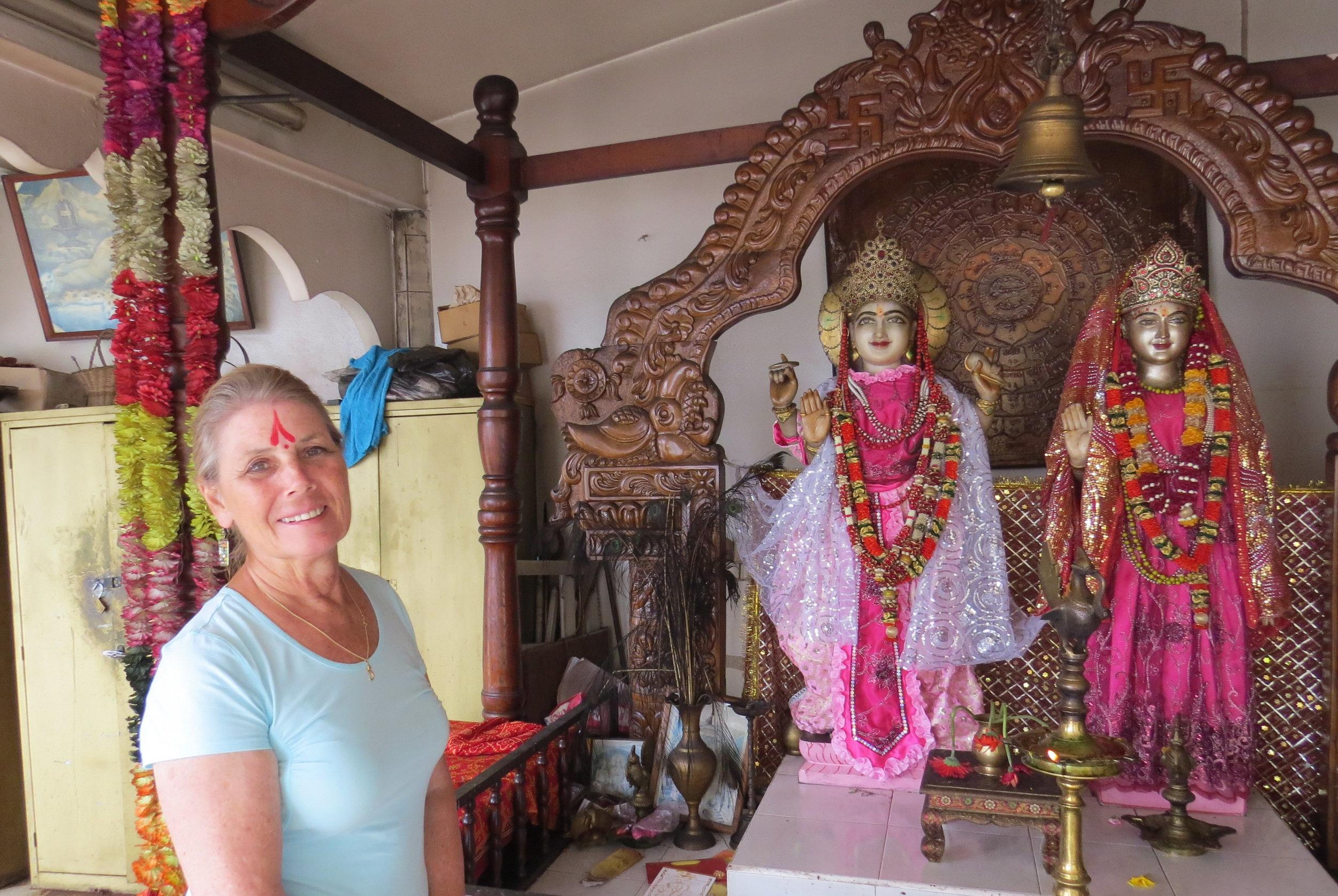 Hindu blessing at Grand Bassin