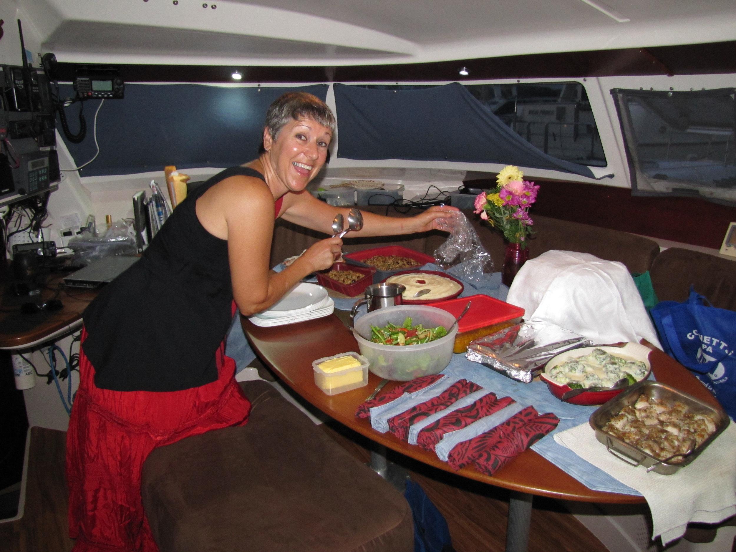 Gail & David served up an outstanding feast in 2011 aboard Fifth Season - Bundaberg, Australia