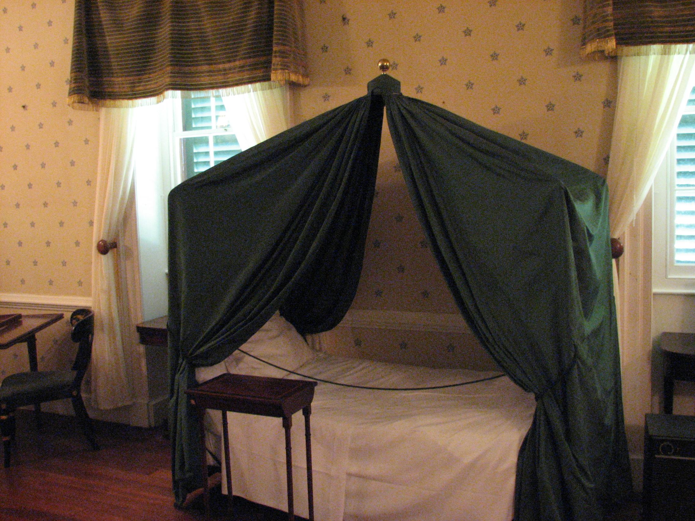 Napoleon's deathbed