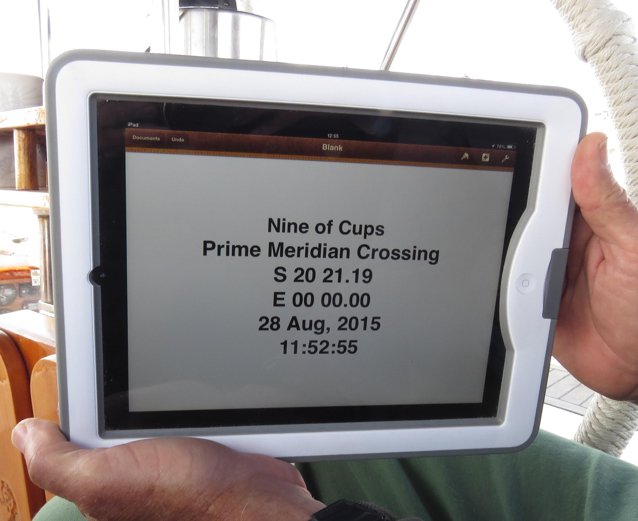 Crossing the Prime Meridian