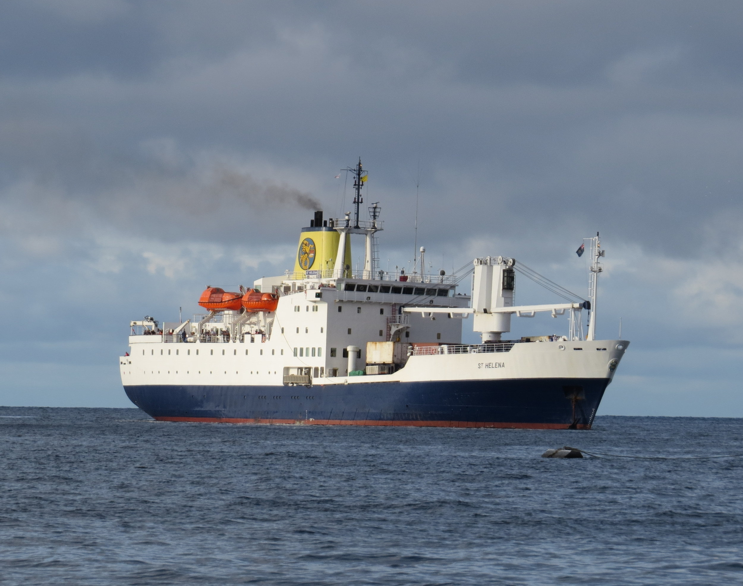 For decades, the RMS St Helena was the primary transport for supplies and passengers on and off the island, but withthe new airport opening in October 2017, the mailship is scheduled to discontinue service in  February 2018,  read more here.