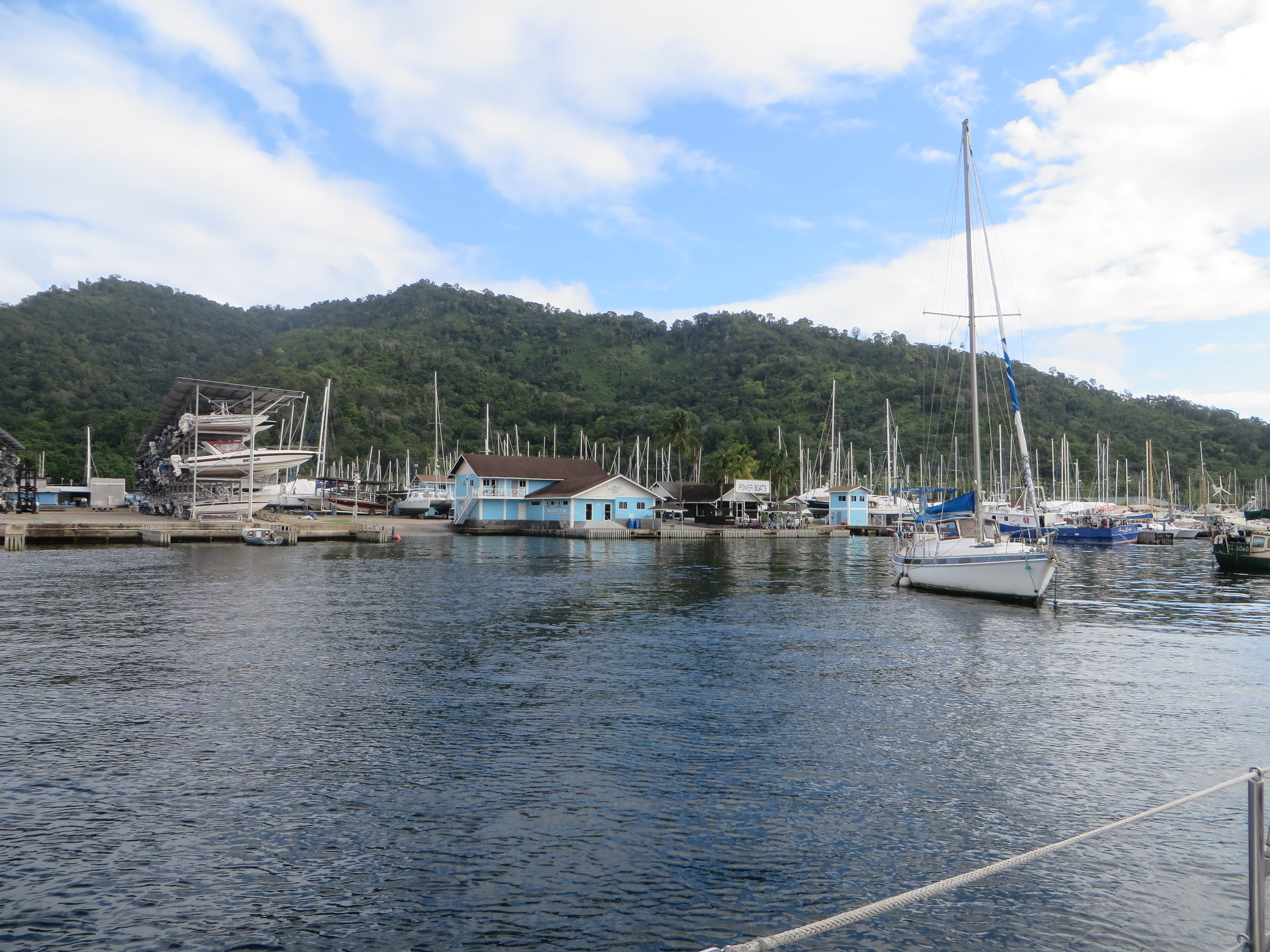 Masts, masts and more masts! Arrival in Chaguaramas, Trinidad - December 2015