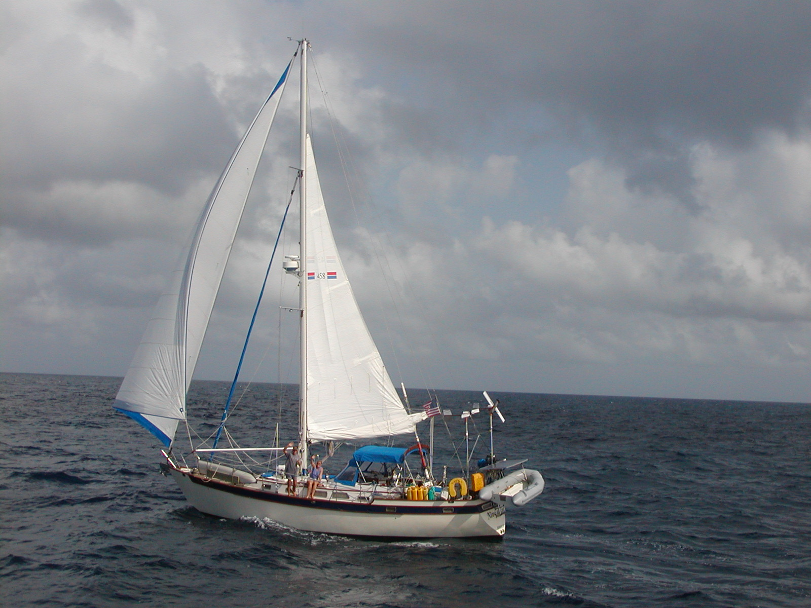 Nine of Cups will be heading off into the Pacific with her new crew.
