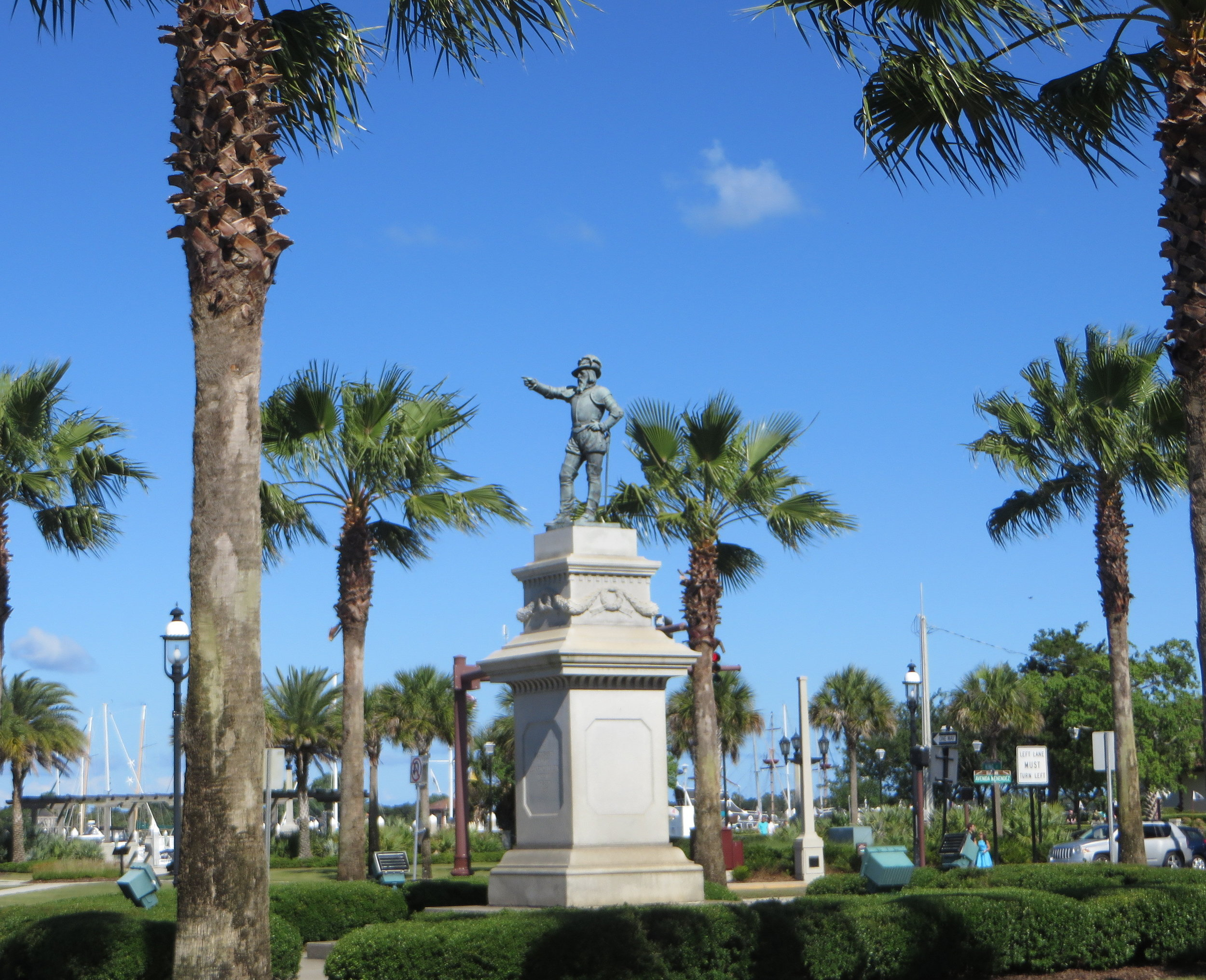 Ponce de Leon statue in old St Augustine