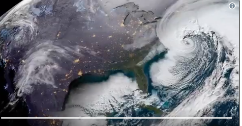 NOAA satellite photo of Winter Storm Grayson