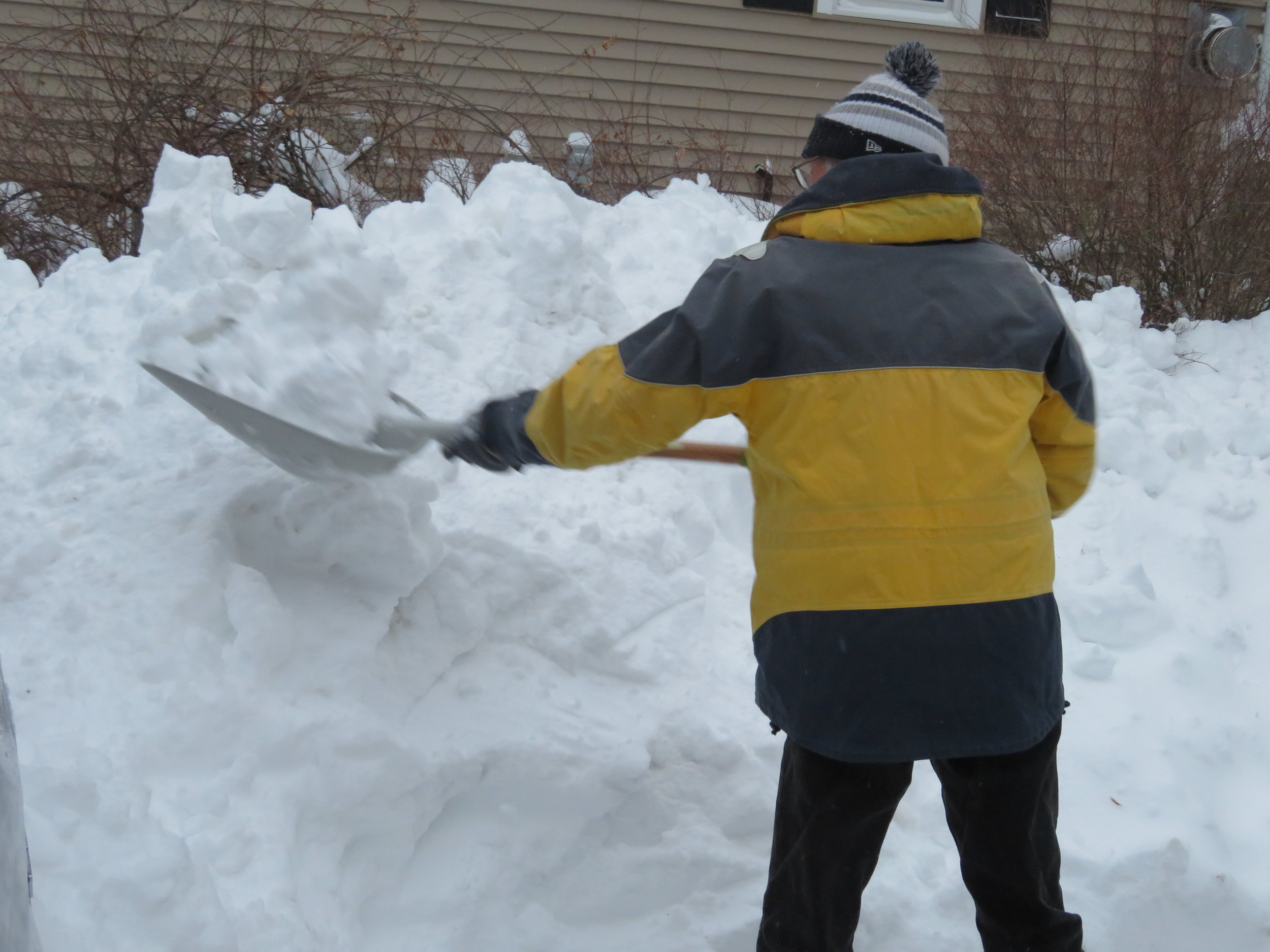 Toting the snow to the snowbank was a pain!