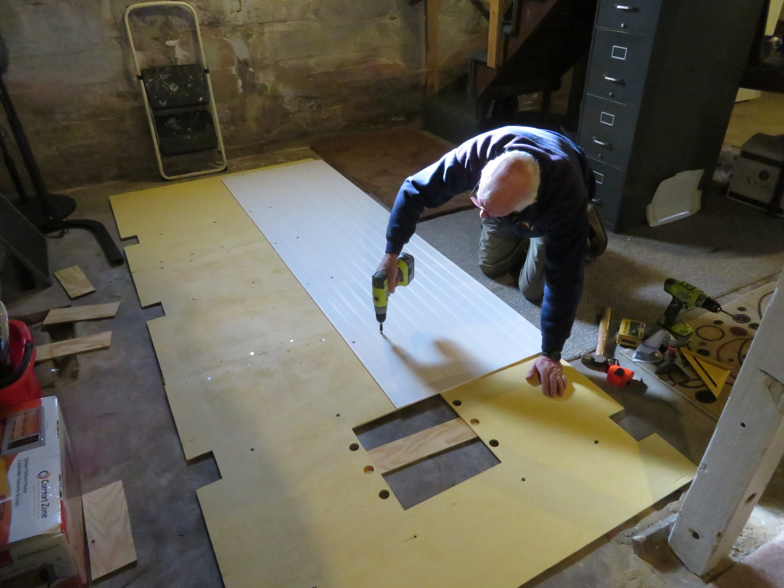 Attaching the planks