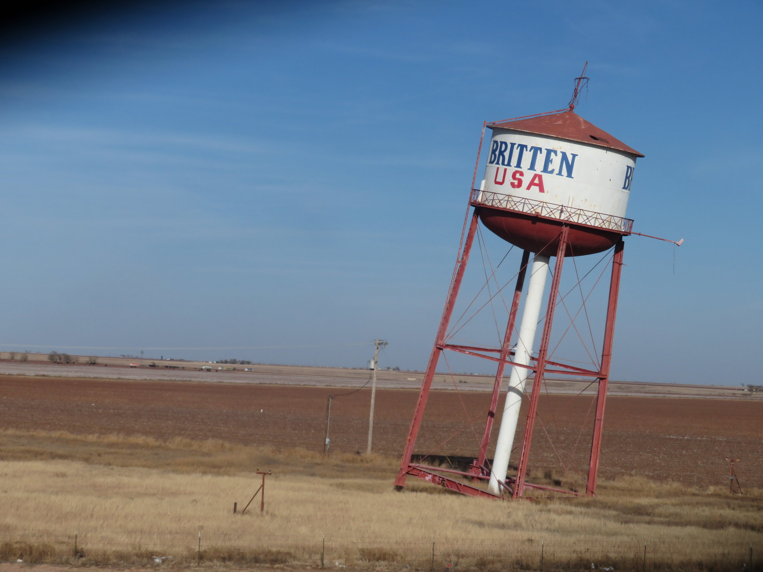 The leaning tower of ... wait for it ...Britten, Texas!