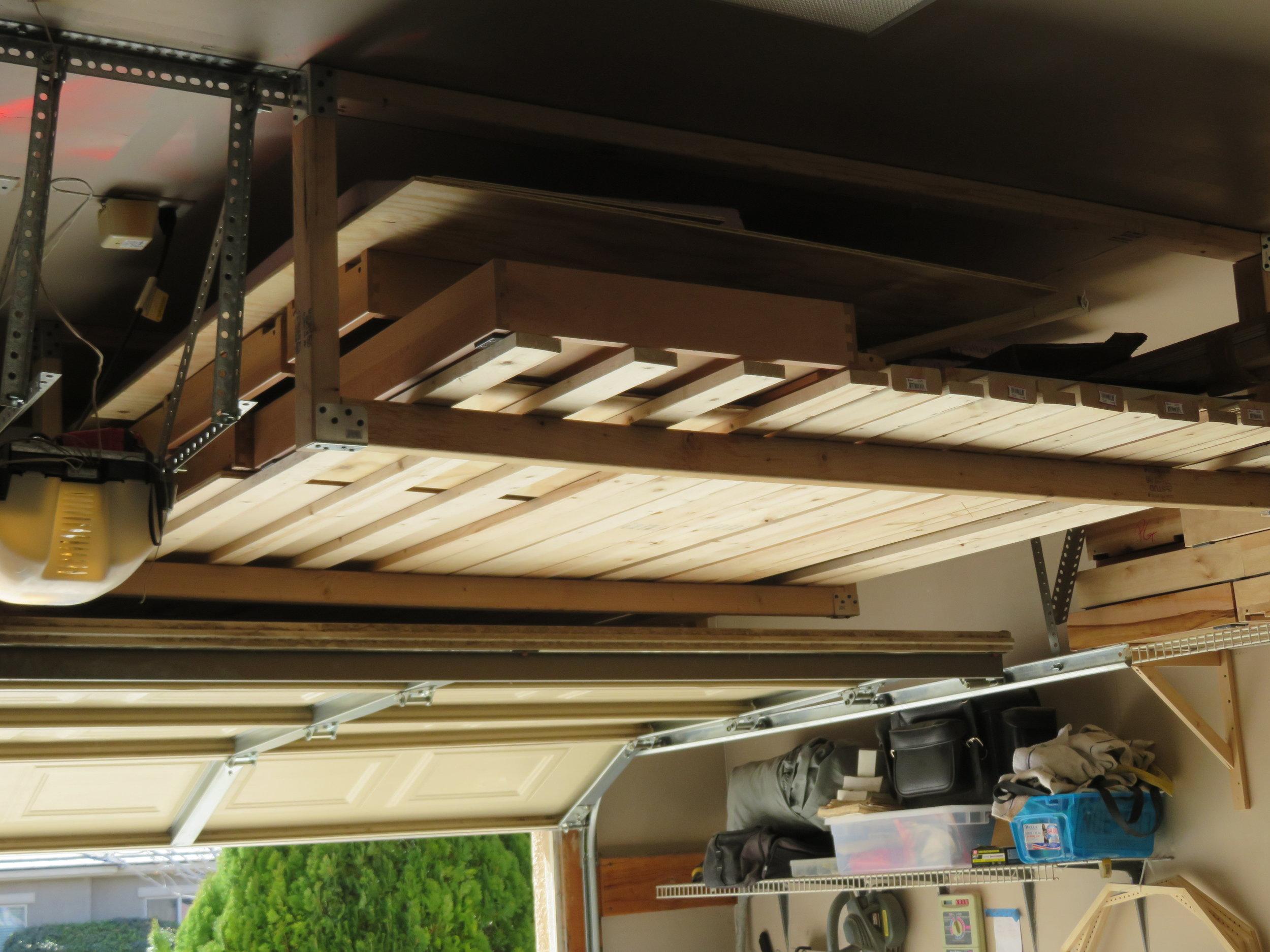 Rafter storage in the garage