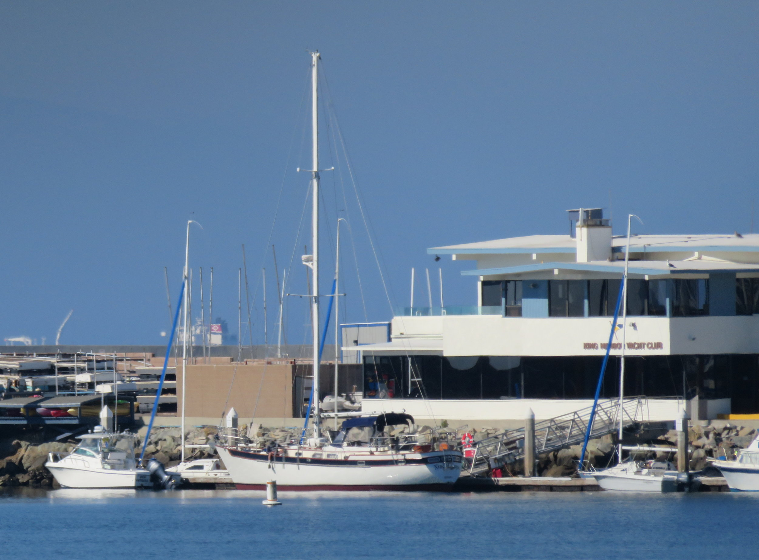 Cups was looking fine docked at the King Harbor Yacht Club