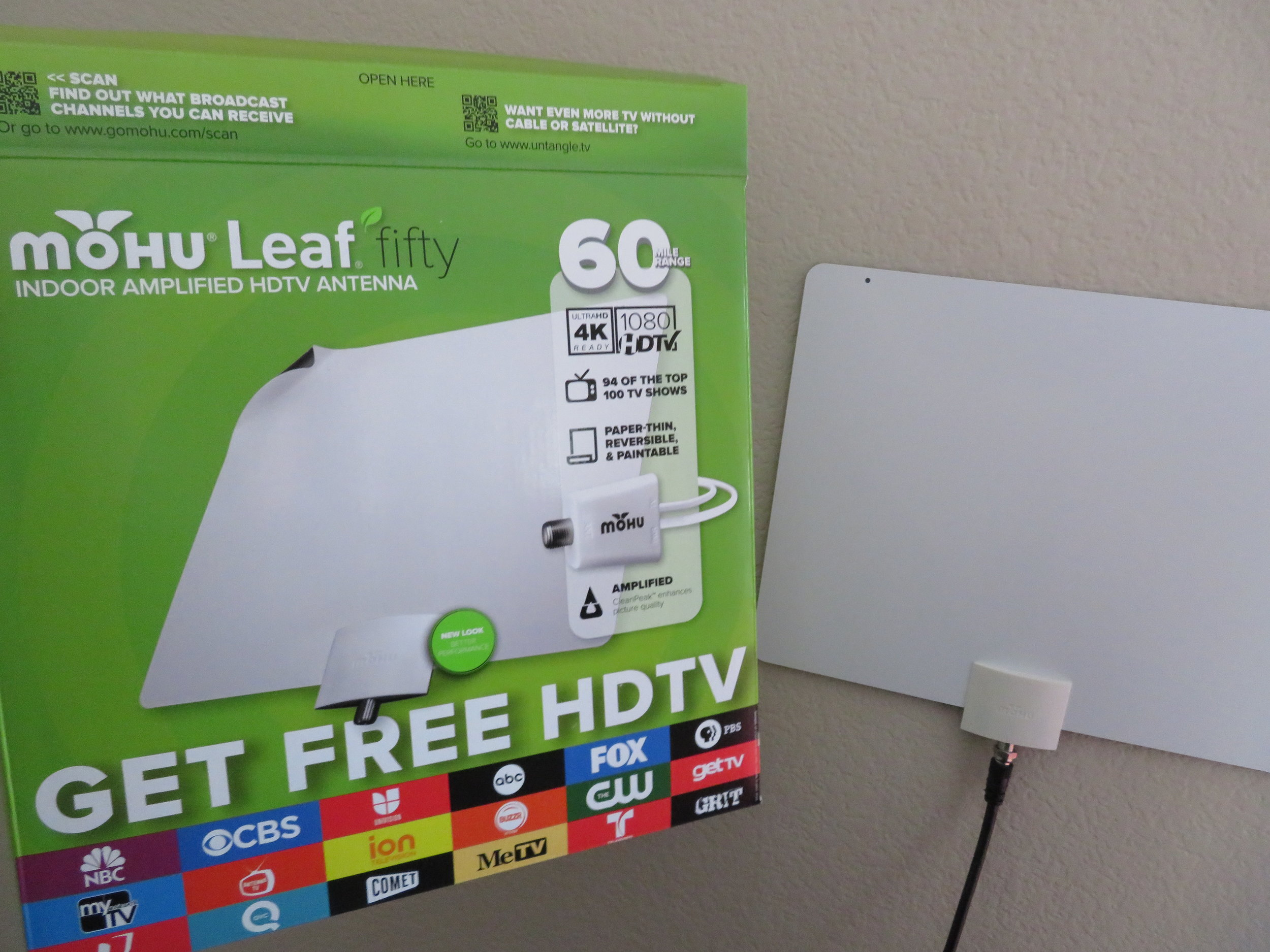 The Mohu Leaf 50 got great reviews AND it works!