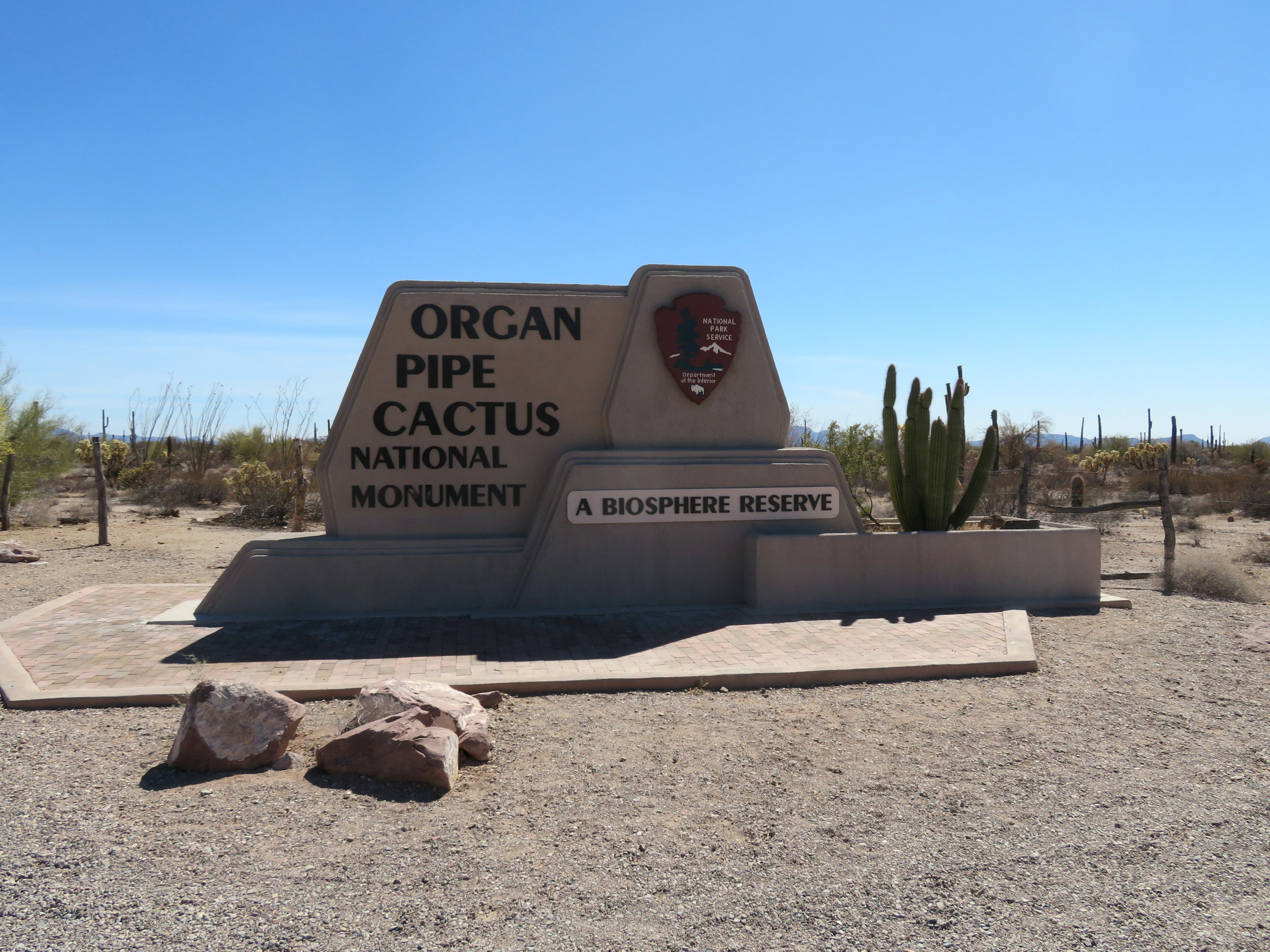 Entrance to Organ Pipe National Monument