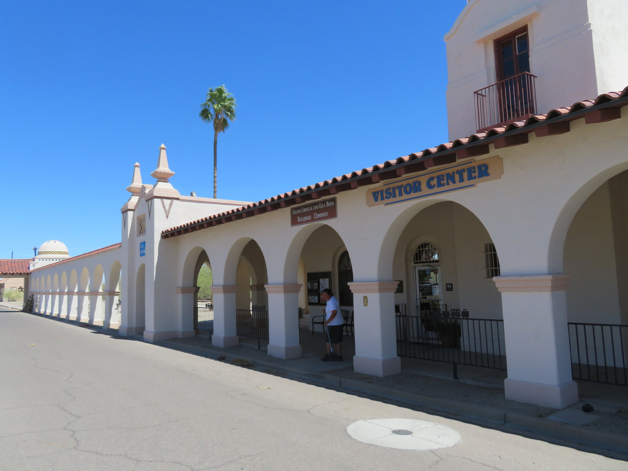 The old railroad station has been re-purposed as a Visitor's Center.