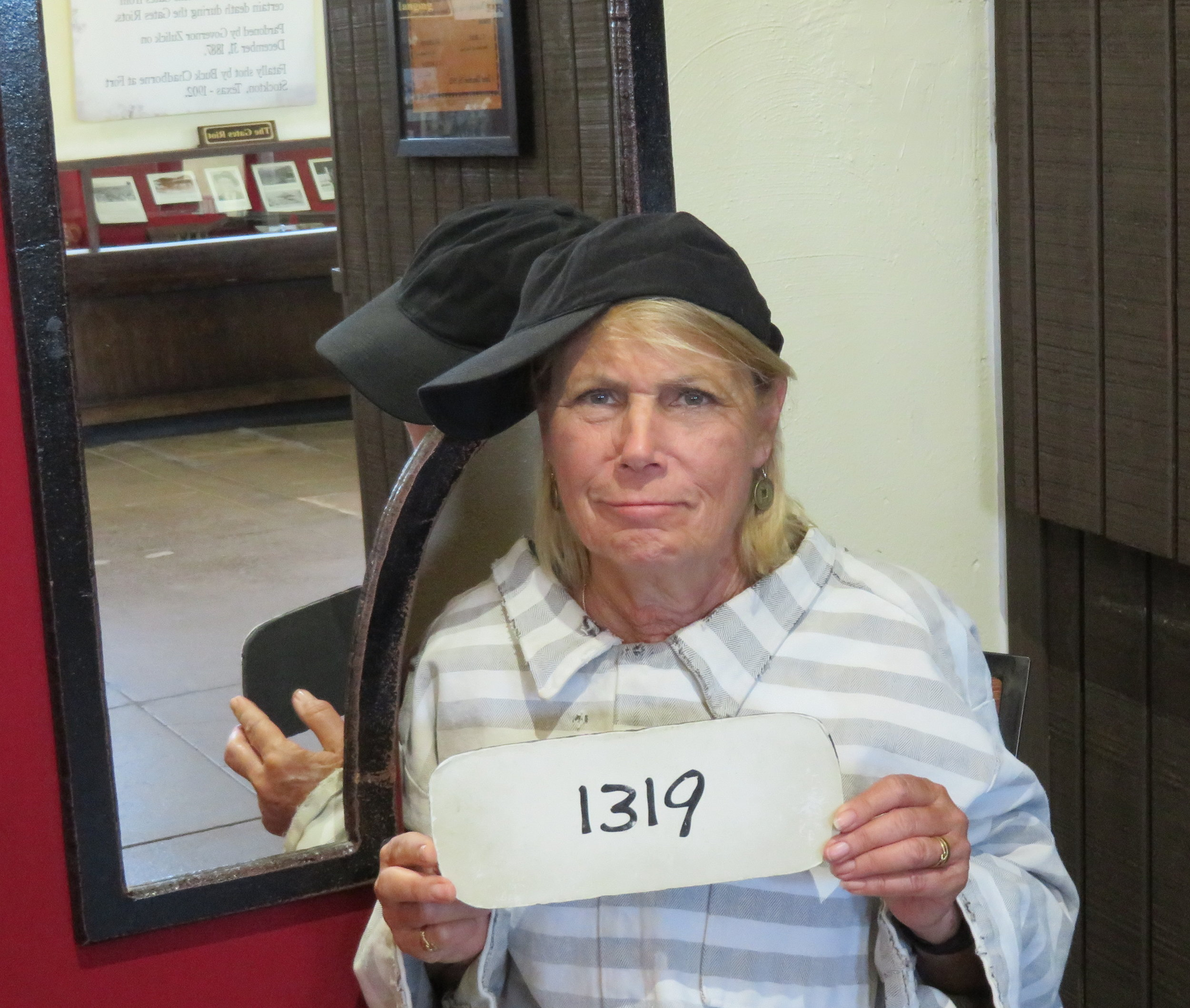 I'm innocent!!! Just another hardened criminal. Wonder what she's in for?