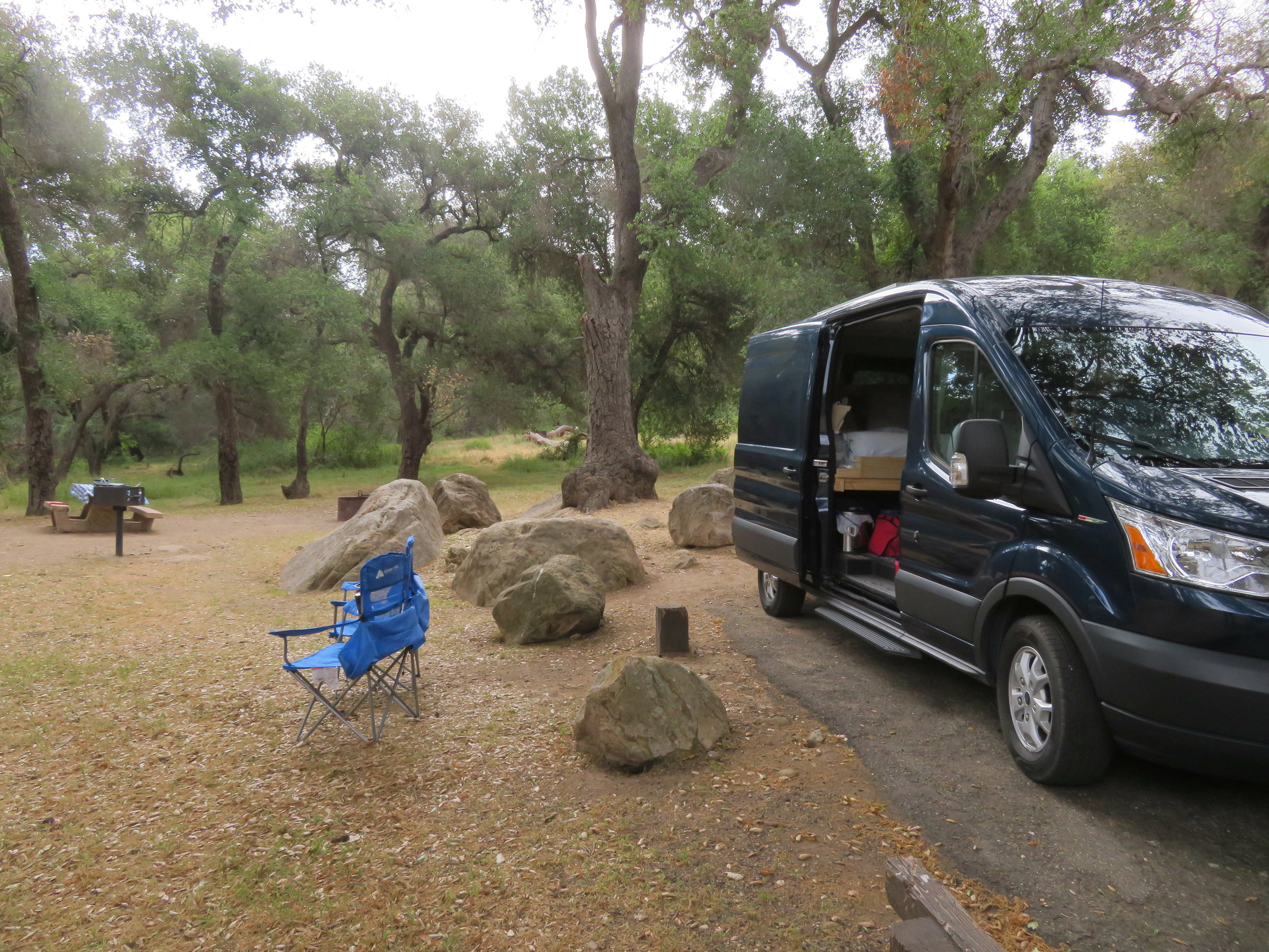 Campsite at Los Prietos - Los Padres National Forest