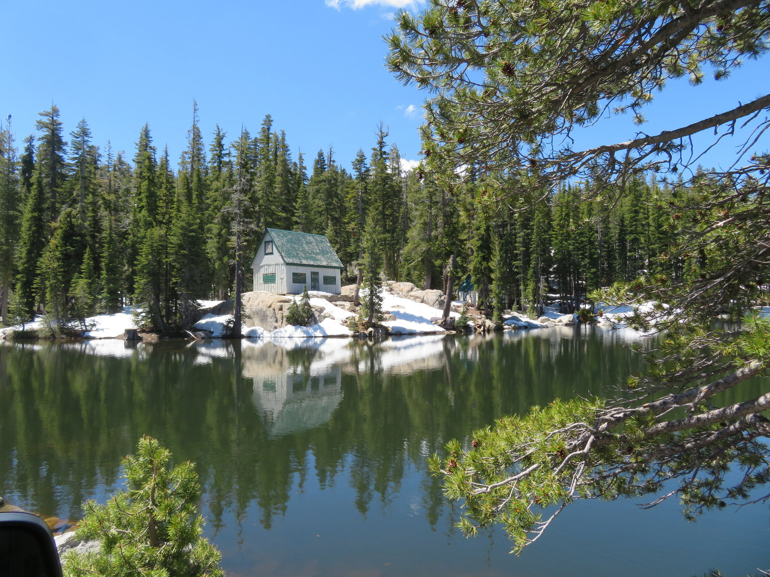 Cabin on Mosquito Lakes ... pretty but brrrrr!