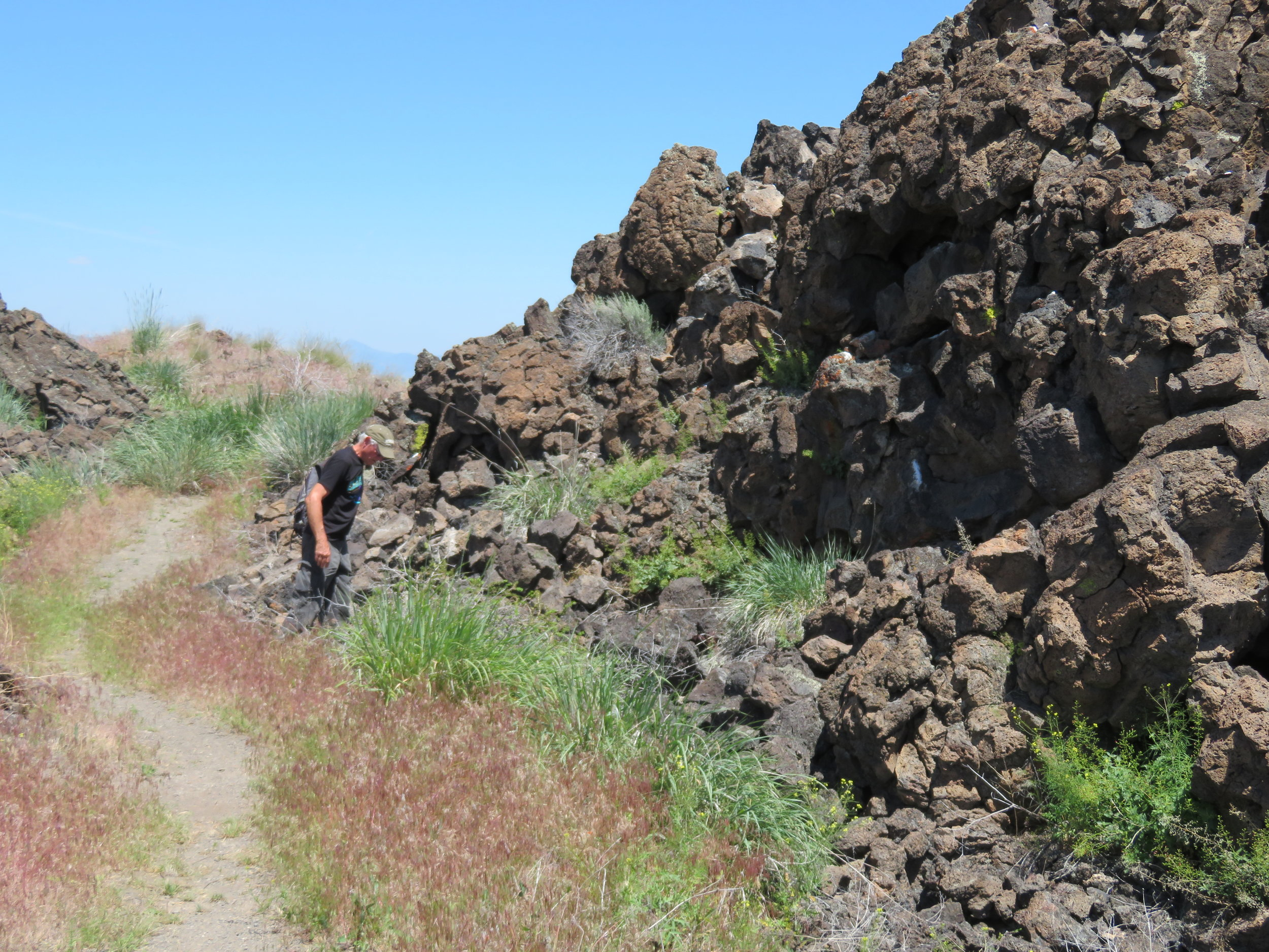 Rough volcanic terrain of Captain Jack's Stronghold