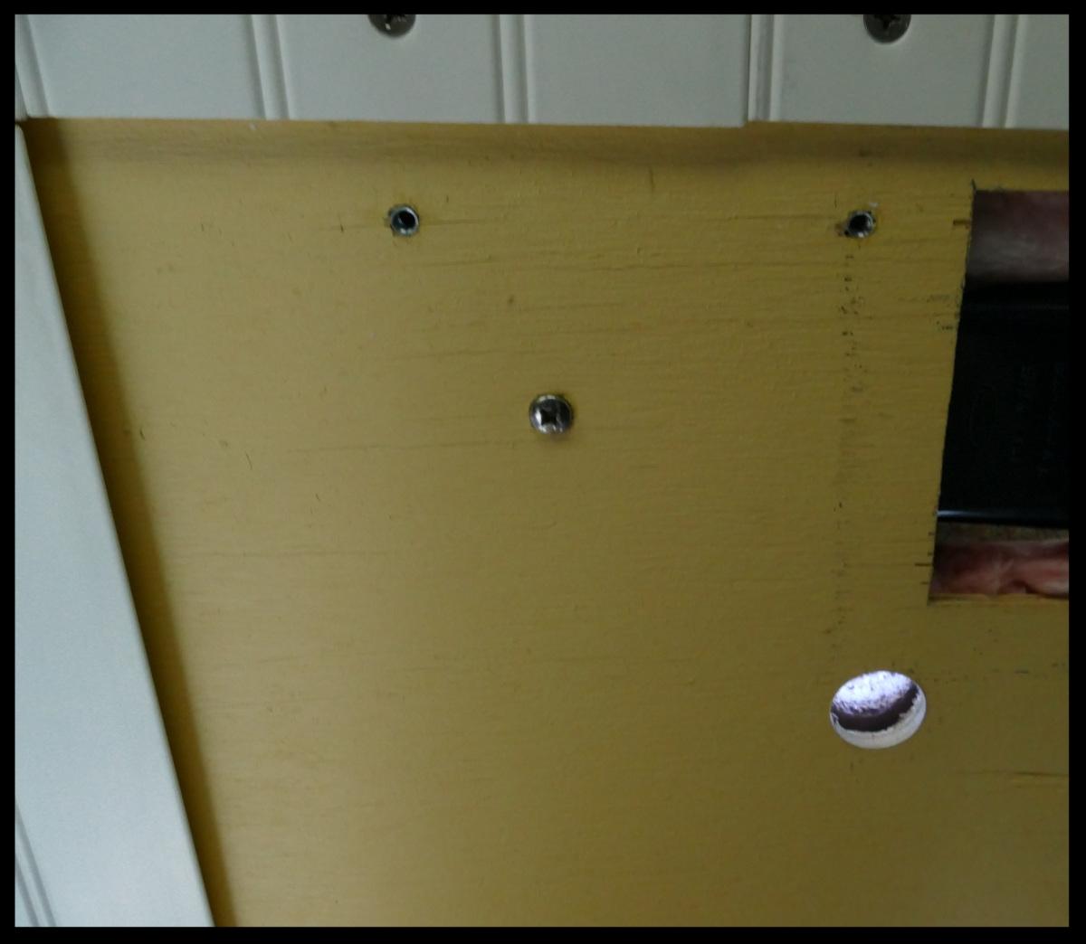 """1-1/4"""" hole in ceiling backer"""