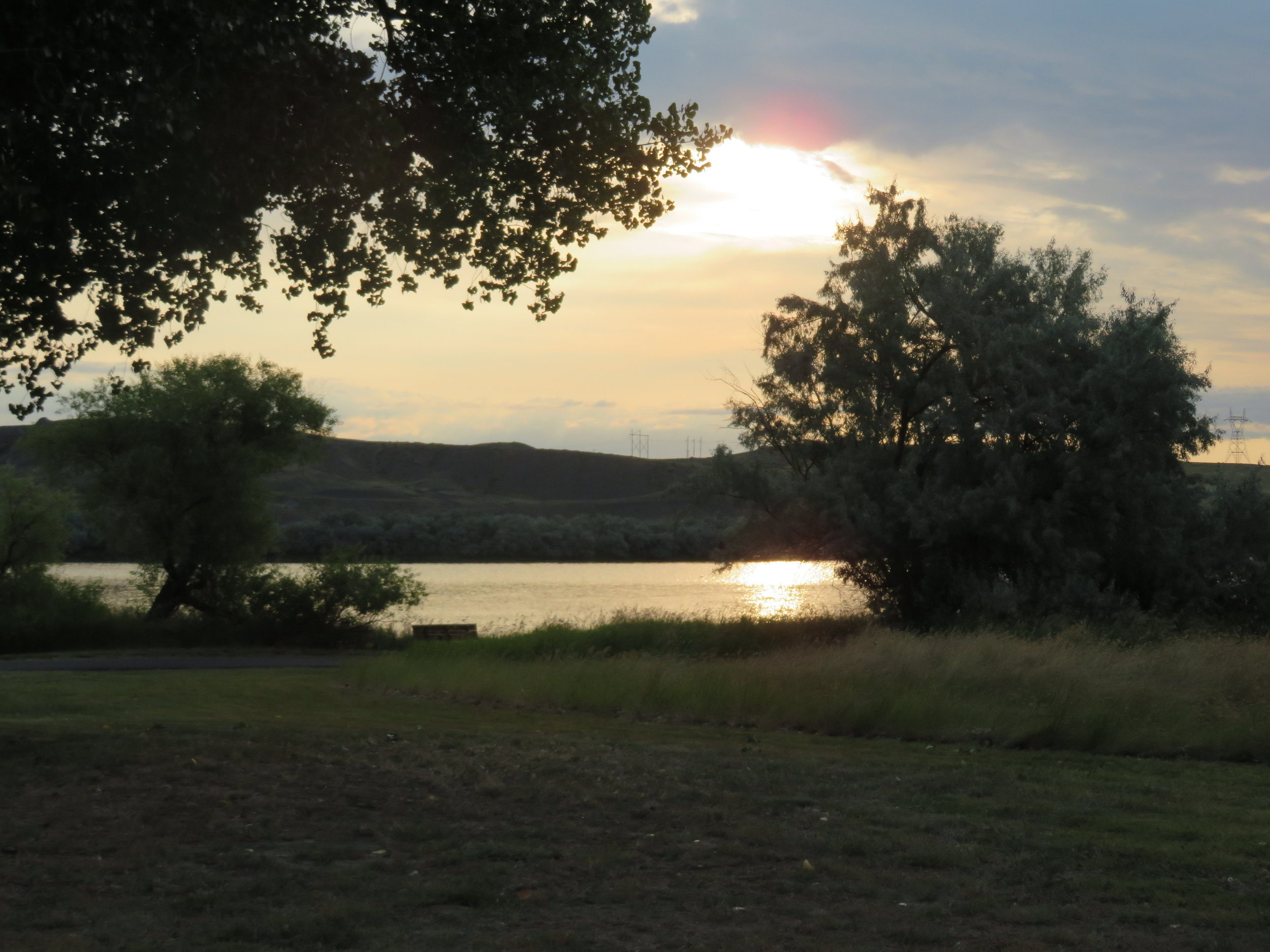 A glorious sunrise on the Missouri River more than made up for the grumpy hostess.
