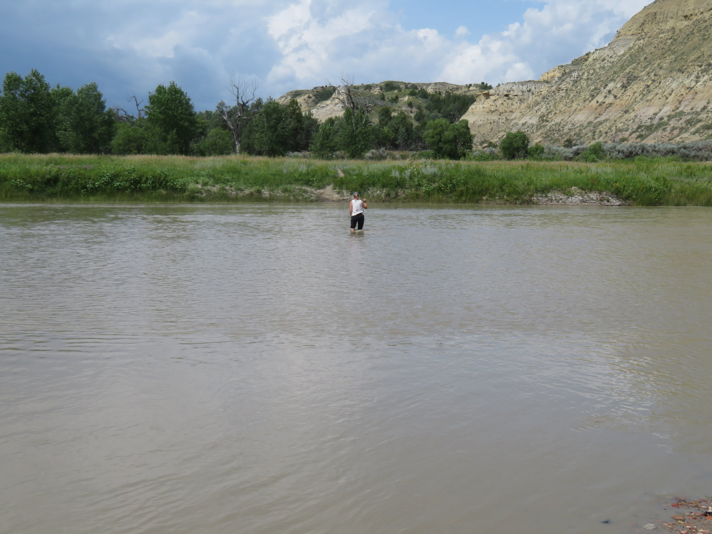 Fording the Little Missouri River