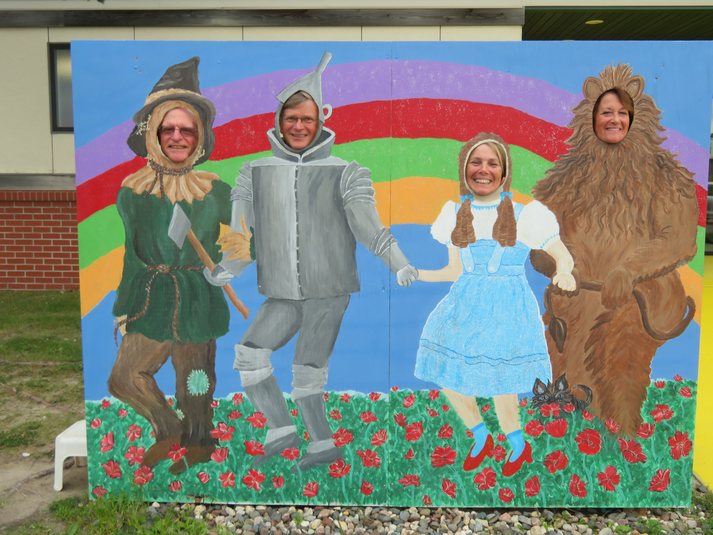 David as Scarecrow, Steve as Tin Man, Marcie as Dorothy and Diane as the Cowardly Lion.