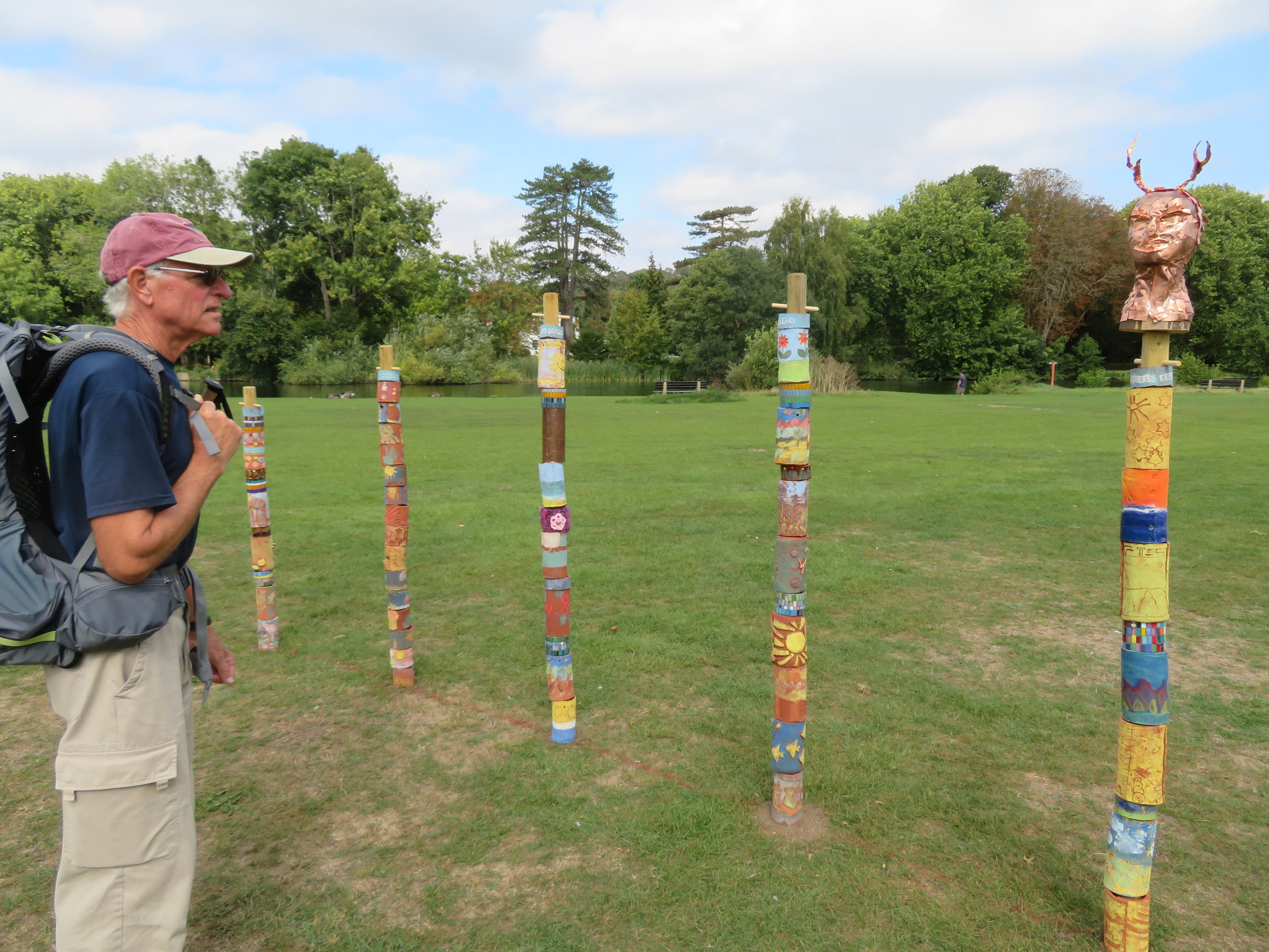 Totem poles at Pangborne Meadow