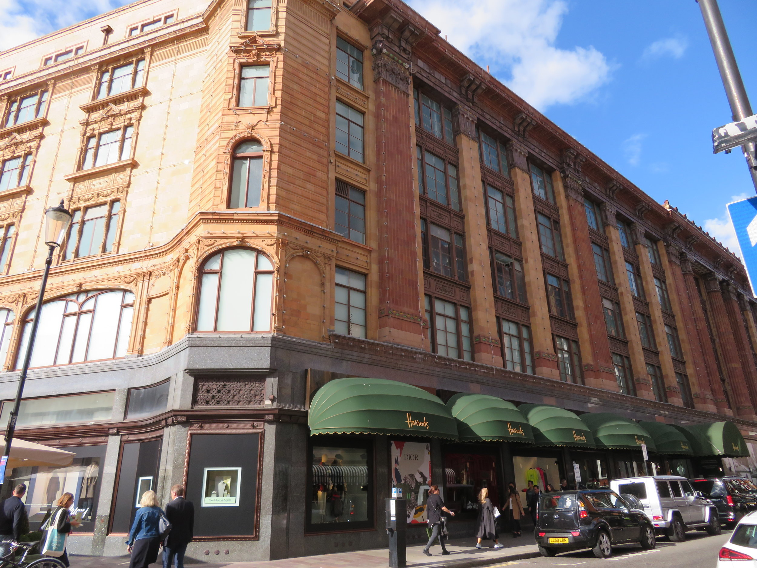 Harrods … it's absolutely ginormous!