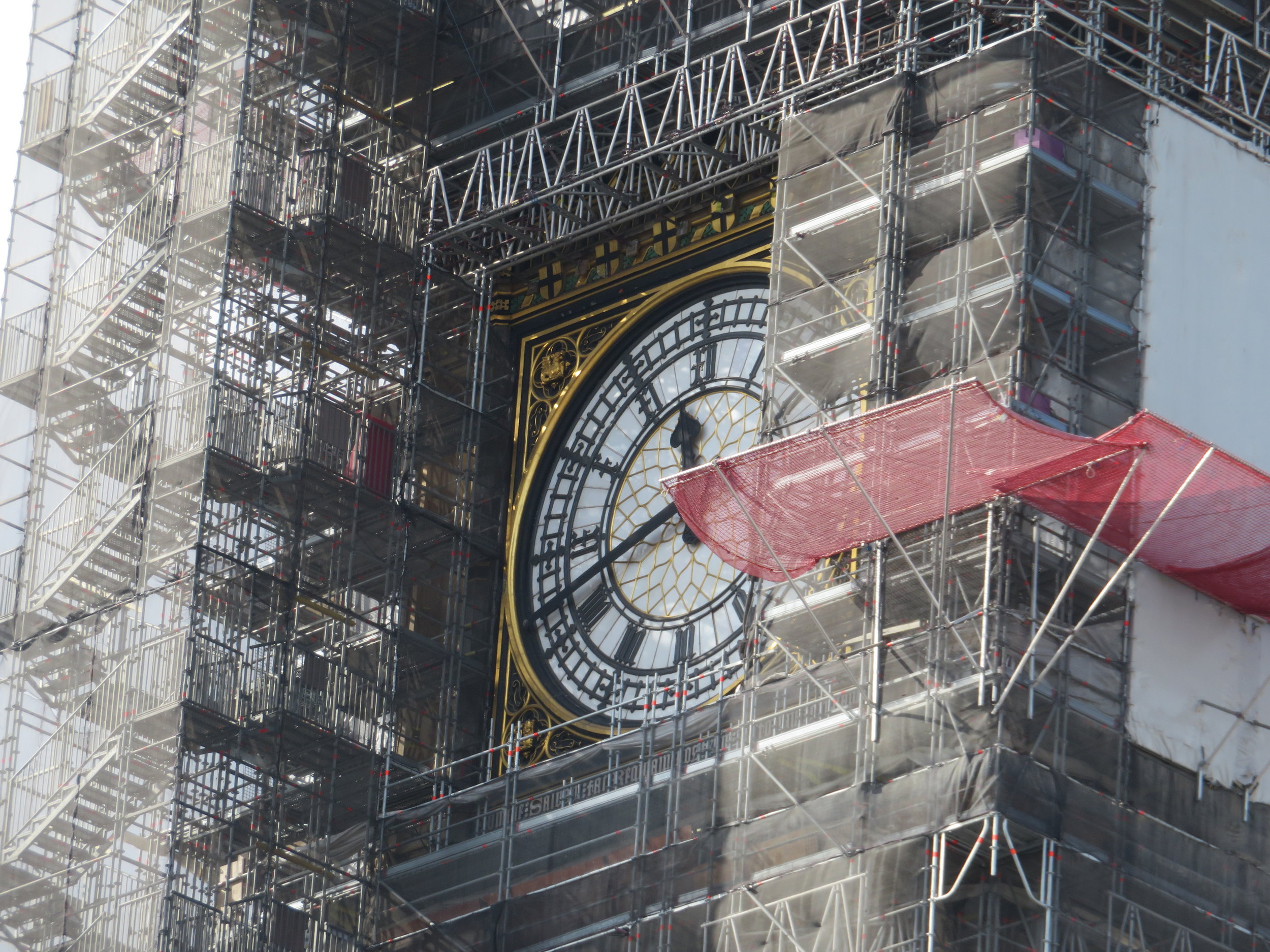 Big Ben was under repair … BAH!  Actually, Big Ben is the name given to the bell inside the clock tower and he'll be silent until the repairs are complete in 2021.