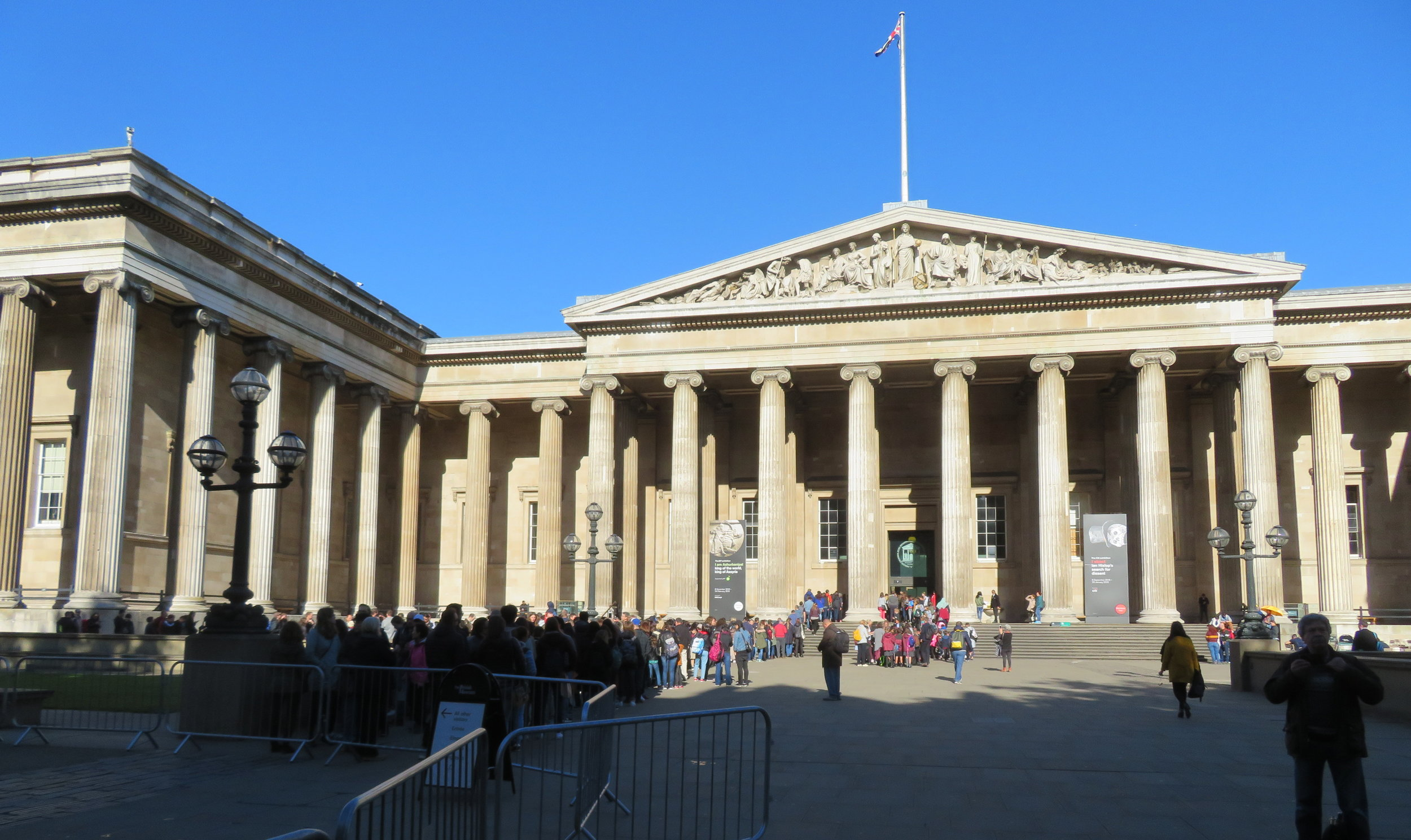 The British Museum … the line went all the way around the building.