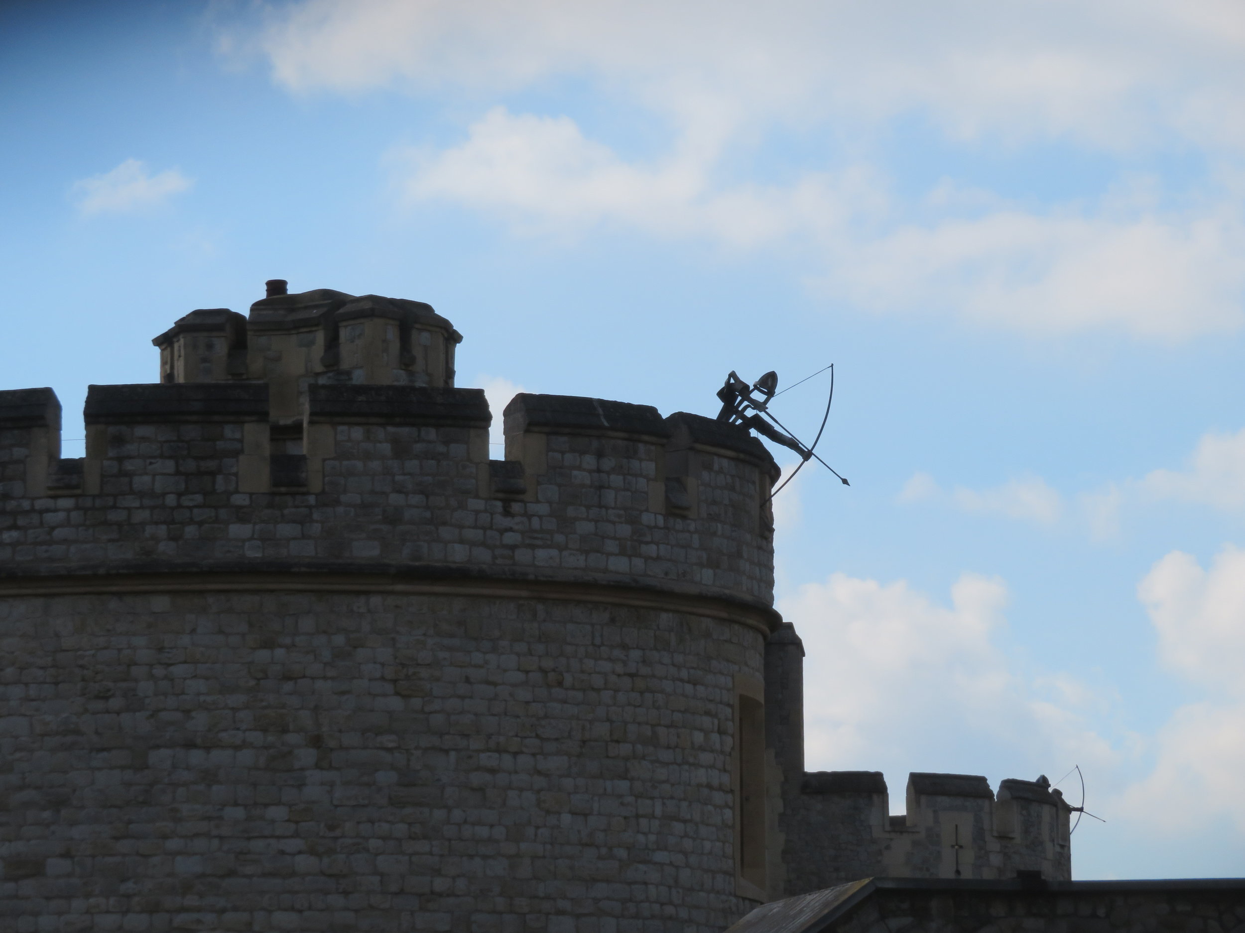 We loved the archers strategically placed at the top of the Tower of London.