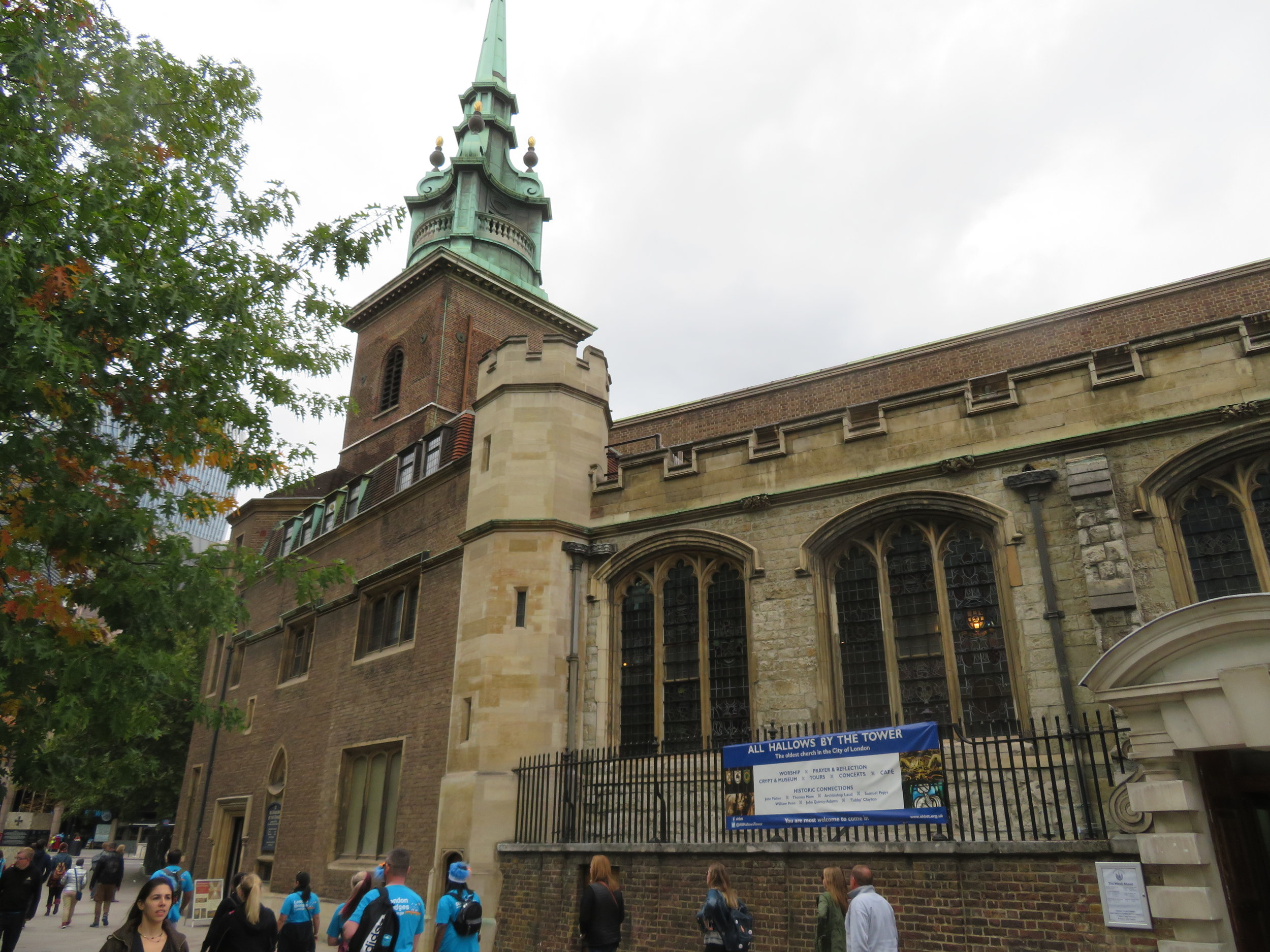 All Hallows by the Tower is the oldest church in London.