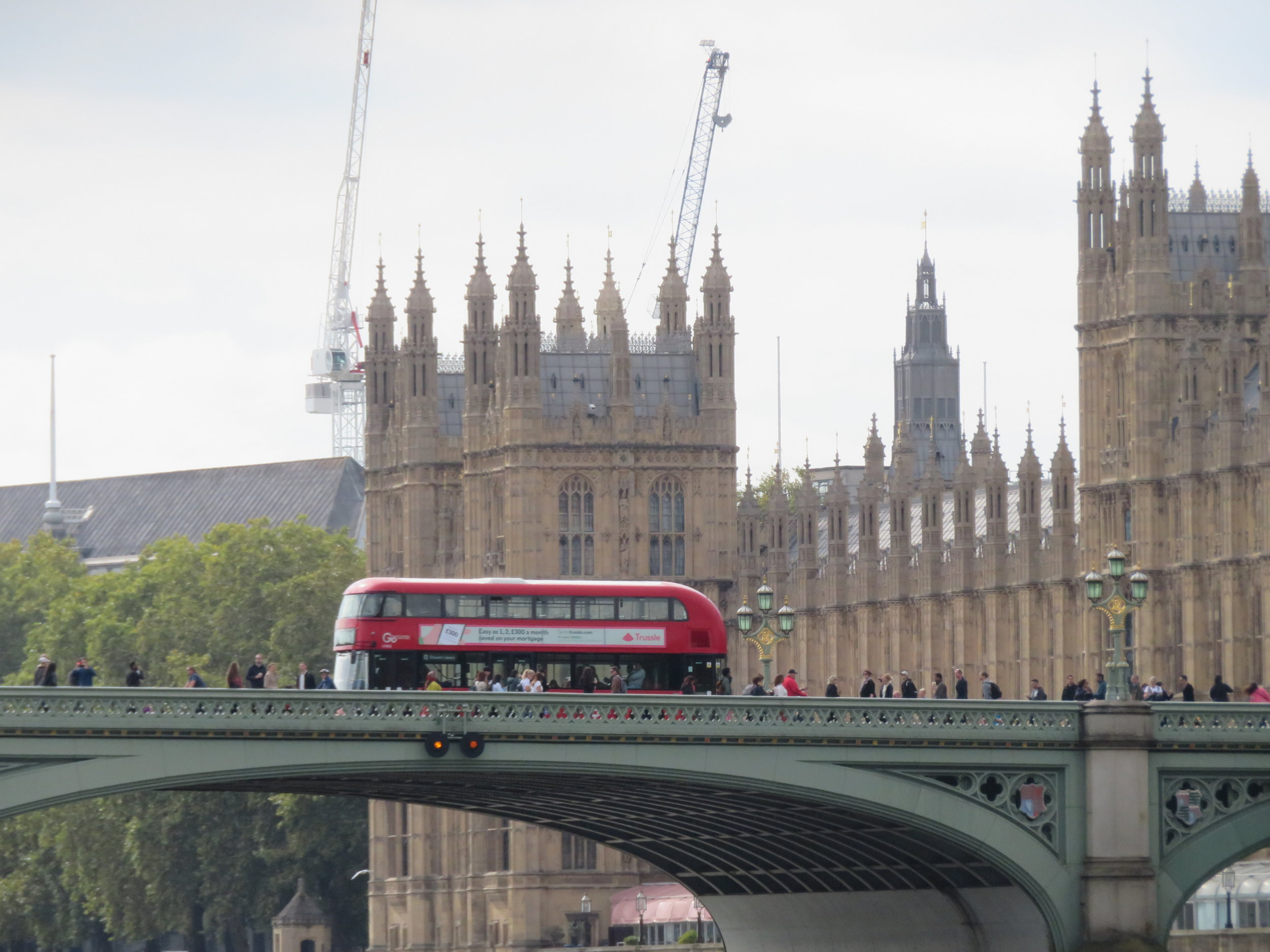 Westminster Palace was also under repair.