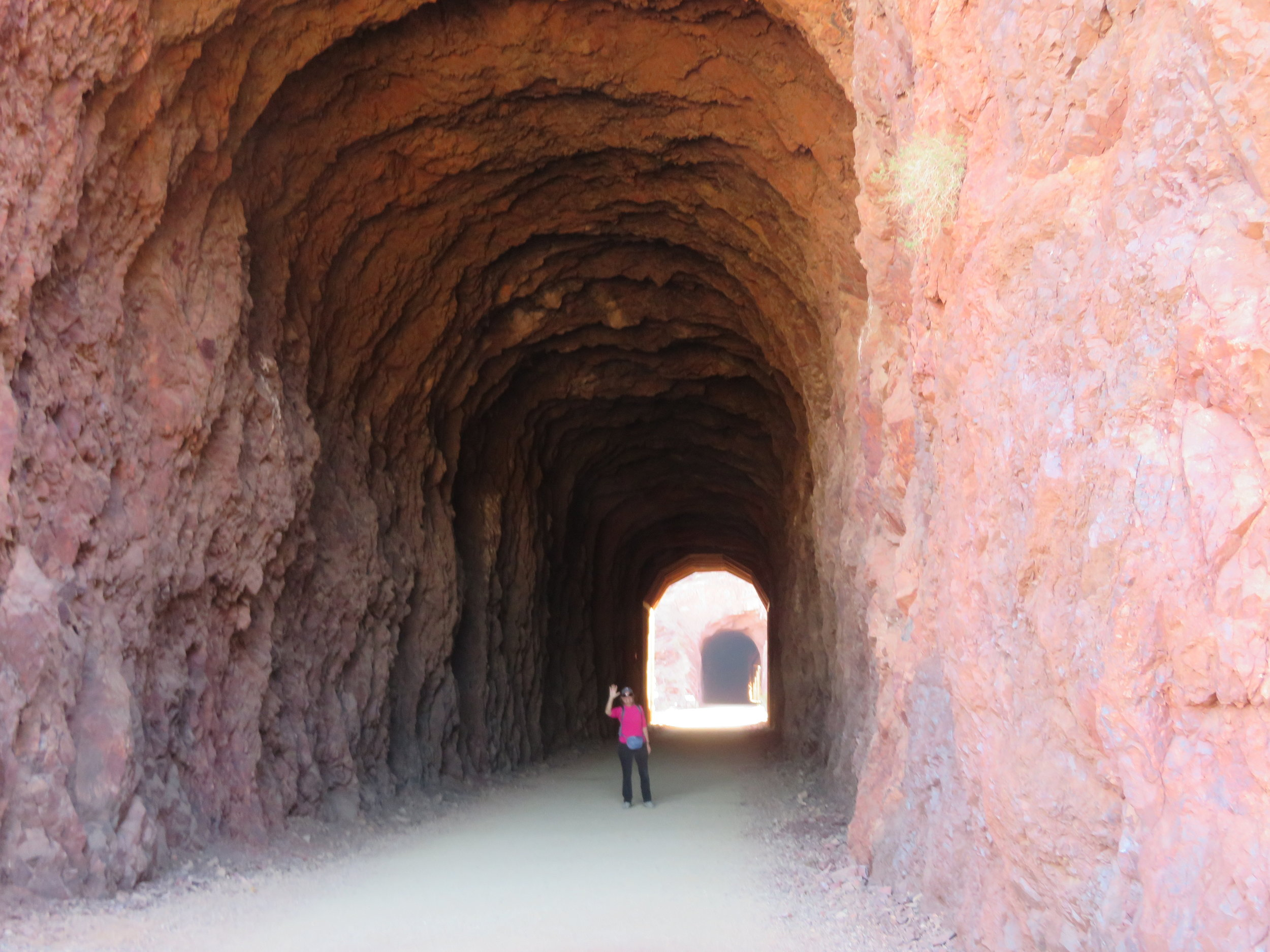 One of five tunnels along the Historic Railroad Trail