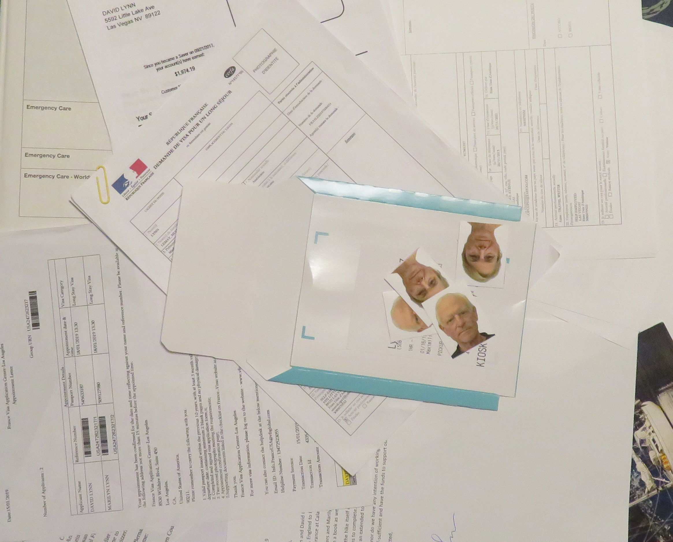 "We were armed with a 1-1/2"" folder of forms, pix, affidavits, bank statements and even magazine articles."