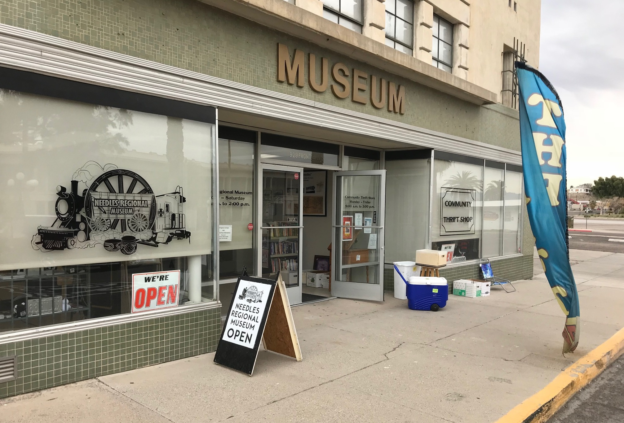 Needles Regional Museum AND thrift shop