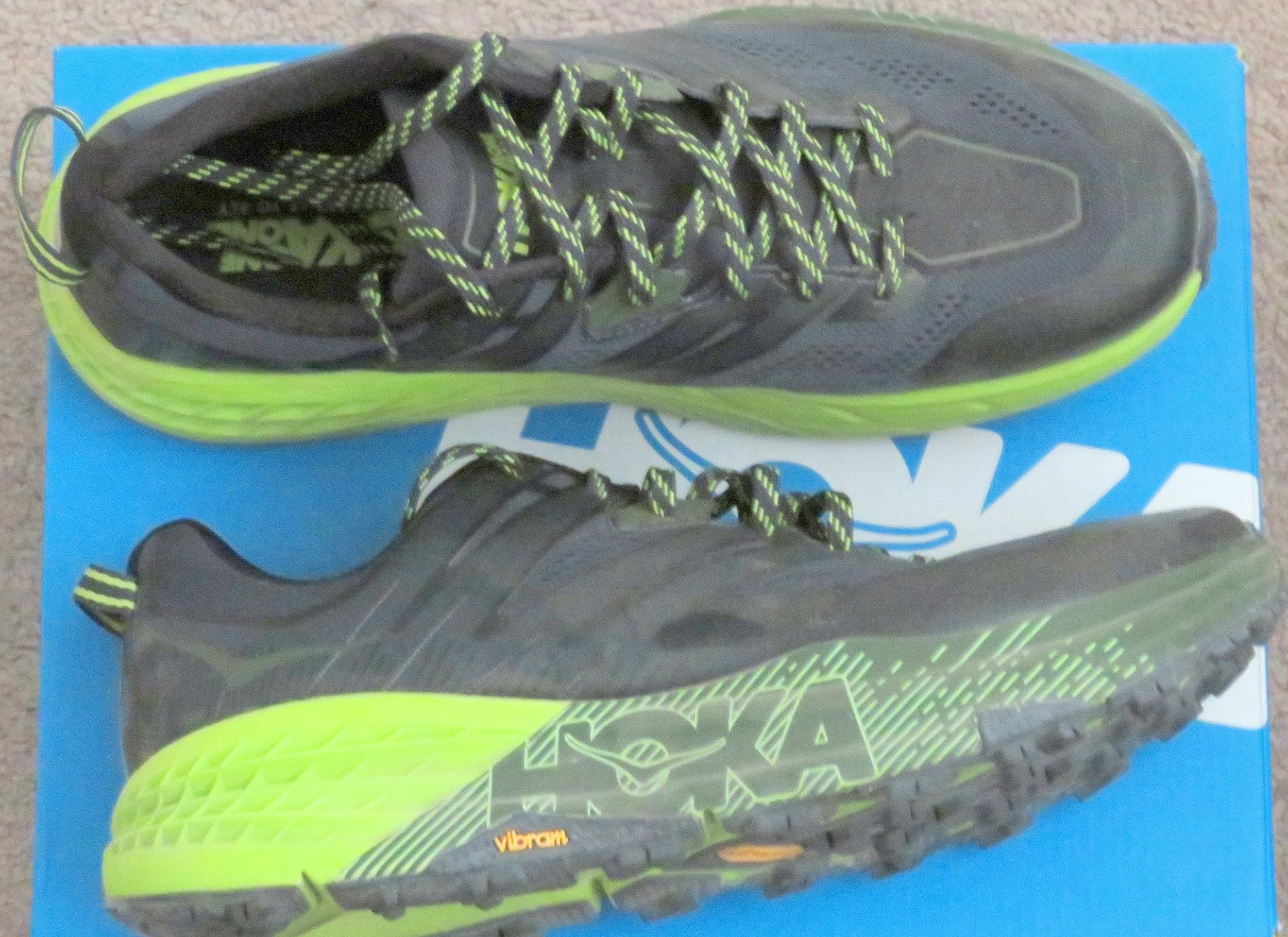 David's new Hoka One One trail runners