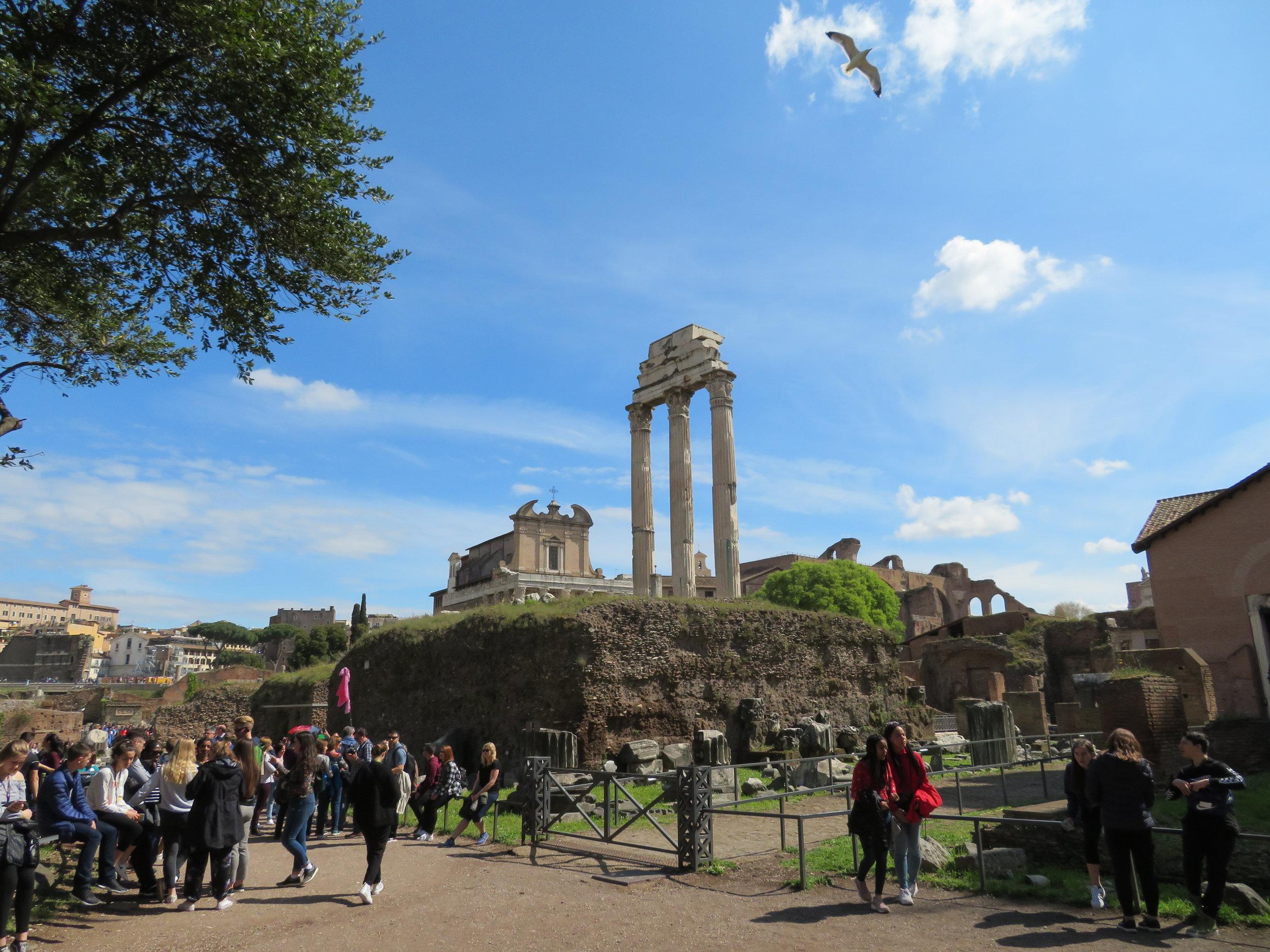 Colosseum_forum ruins.JPG