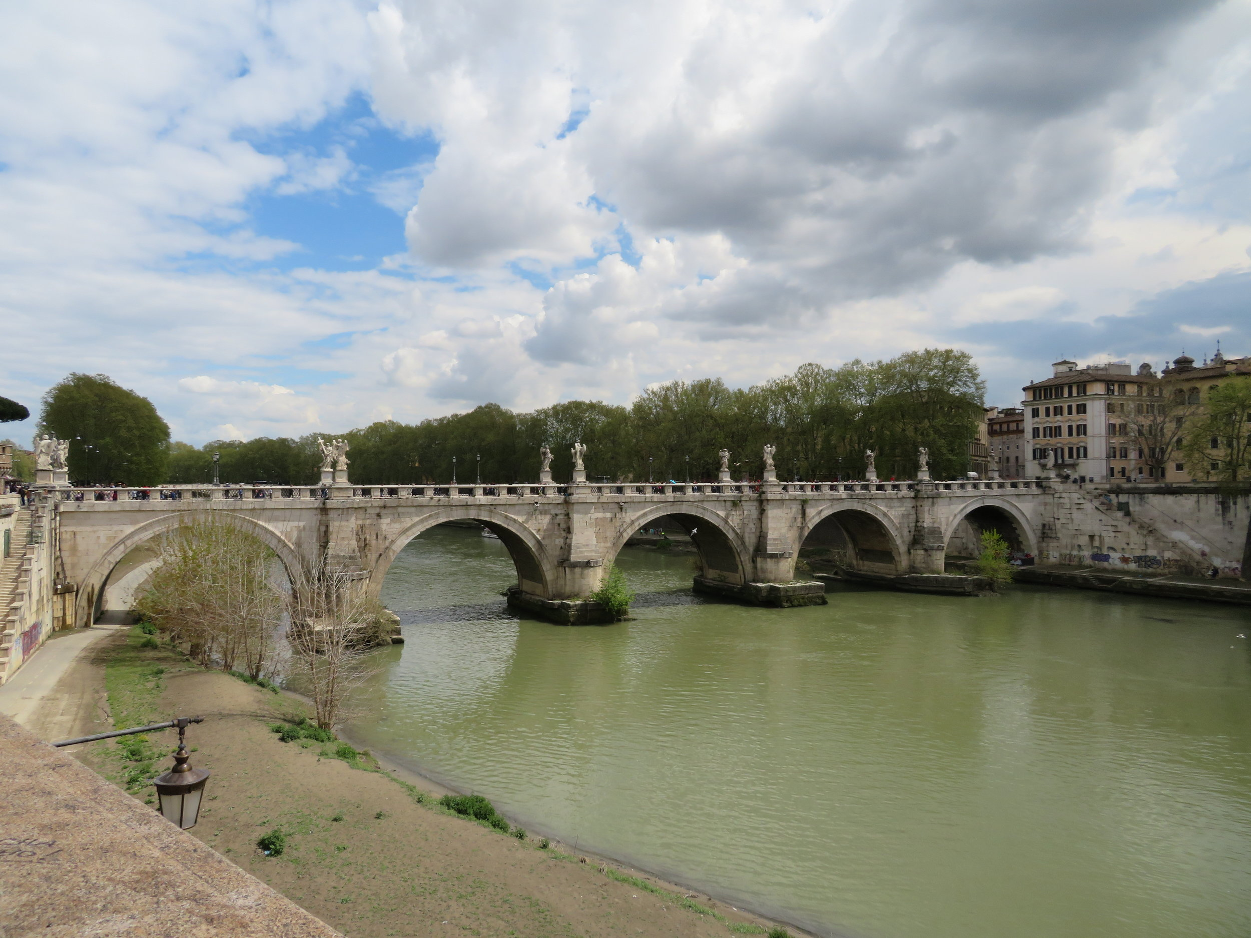 The Tiber River divides Rome from the Vatican City