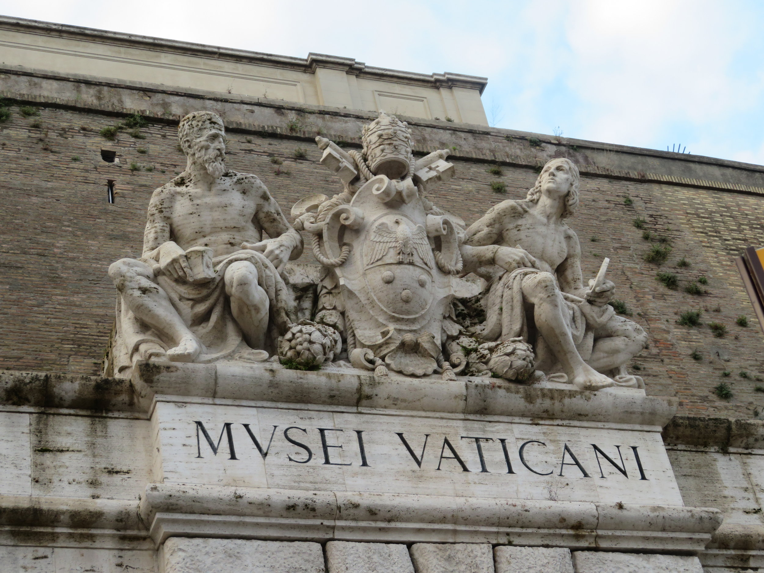 The grand entrance to the Vatican Museums, but we went in through the 'group' door.