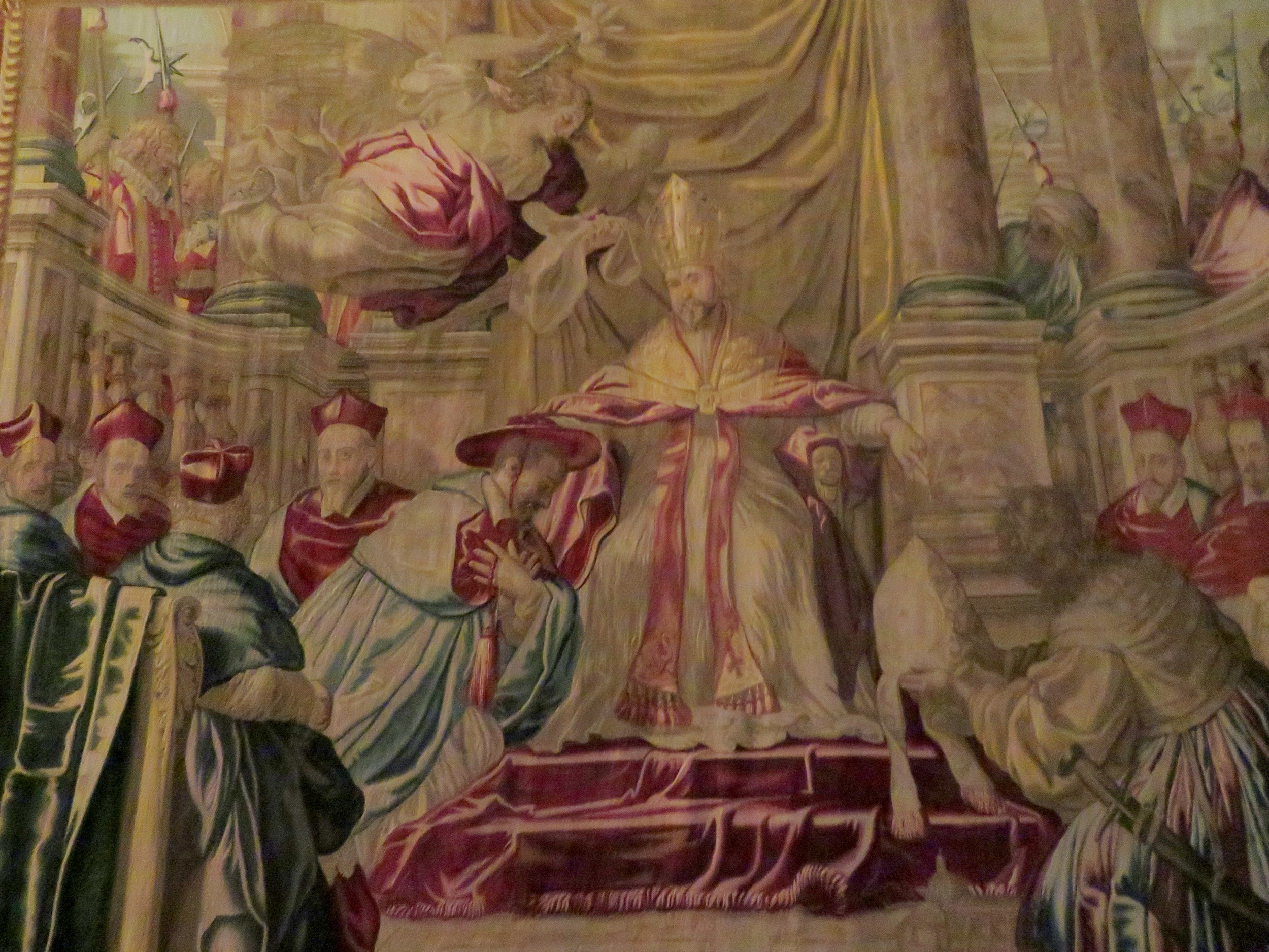 One of the magnificent tapestries on display.