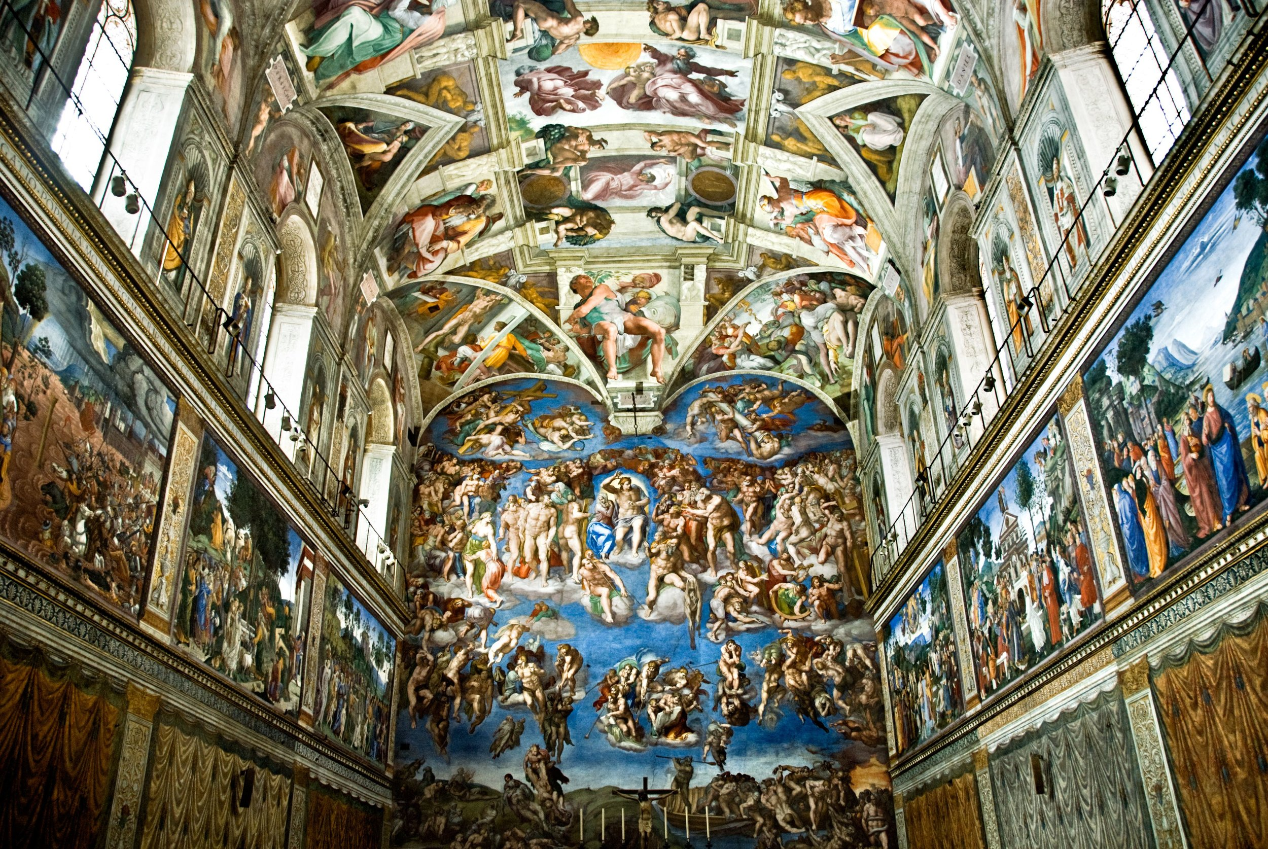 Gazing up in awe is the only way to see and appreciate the artisanship of the Sistine Chapel.