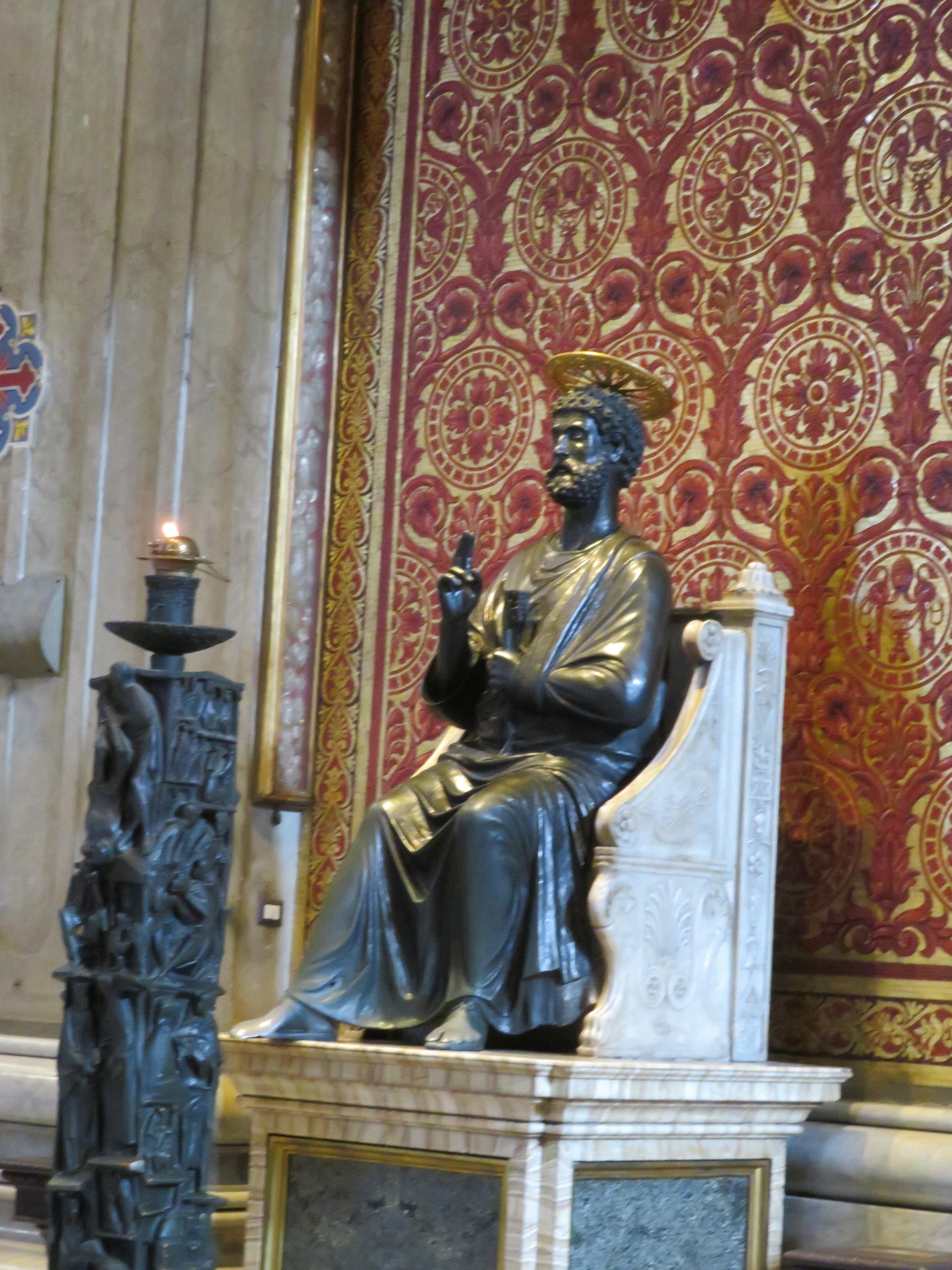 St Peter bronze statue