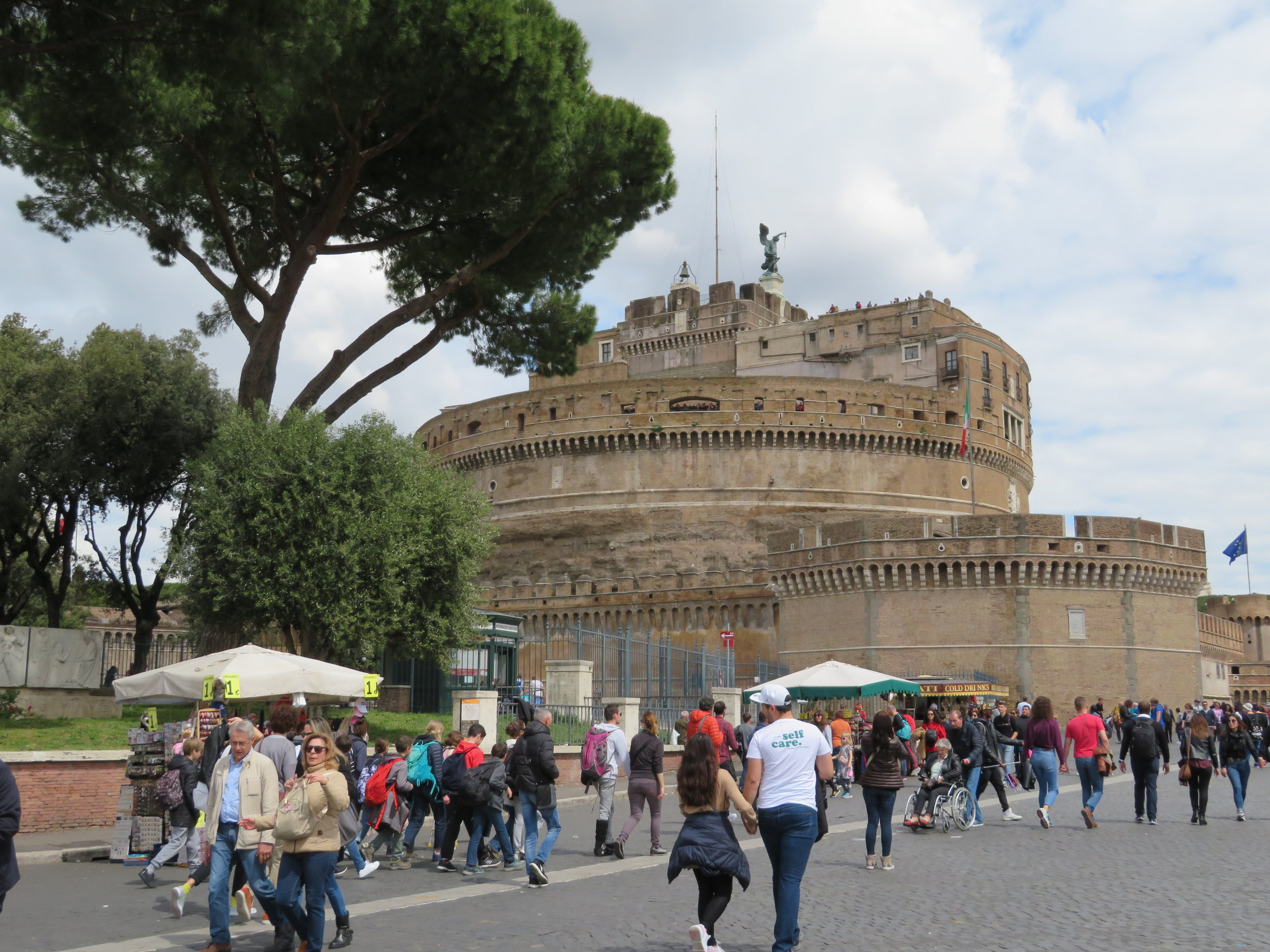 We headed back to the city for lunch, passing by the Castel Sant'Angelo, the fortress that protected the city in past centuries.