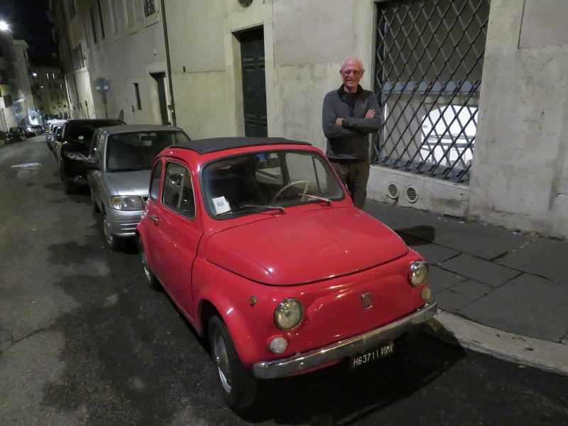 I'm not sure I could scrunch myself into this Fiat